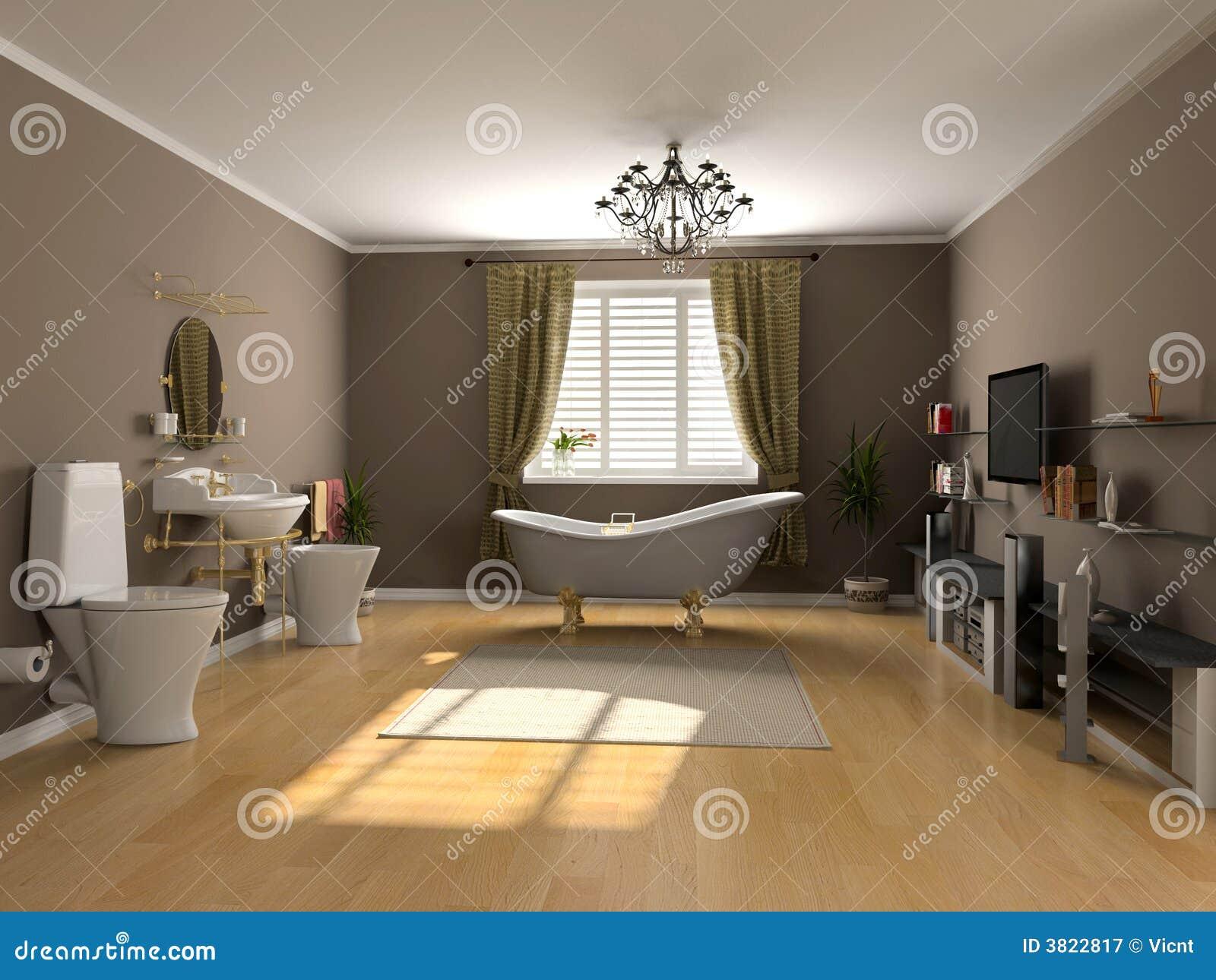 Interiore della stanza da bagno illustrazione di stock for Grande disposizione della stanza