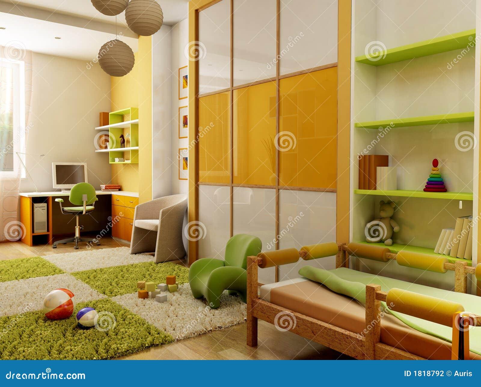 Interiore della stanza dei bambini