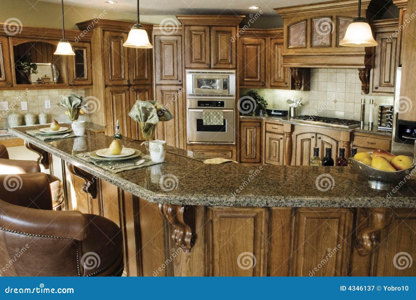 Interiore Di Classe Della Cucina Immagine Stock - Immagine di ...