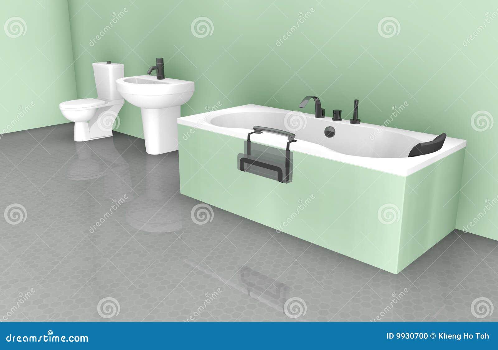 Interiore di disegno della stanza da bagno illustrazione for Disegno stanza