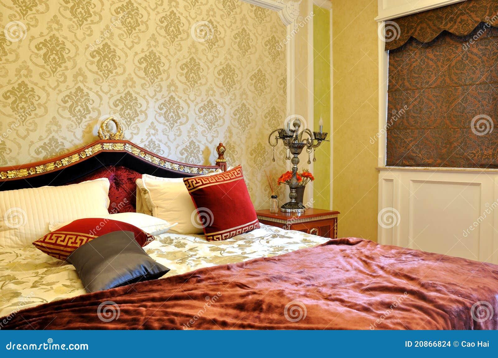 Interiore di lusso della camera da letto di stile immagini - Camera da letto di lusso ...