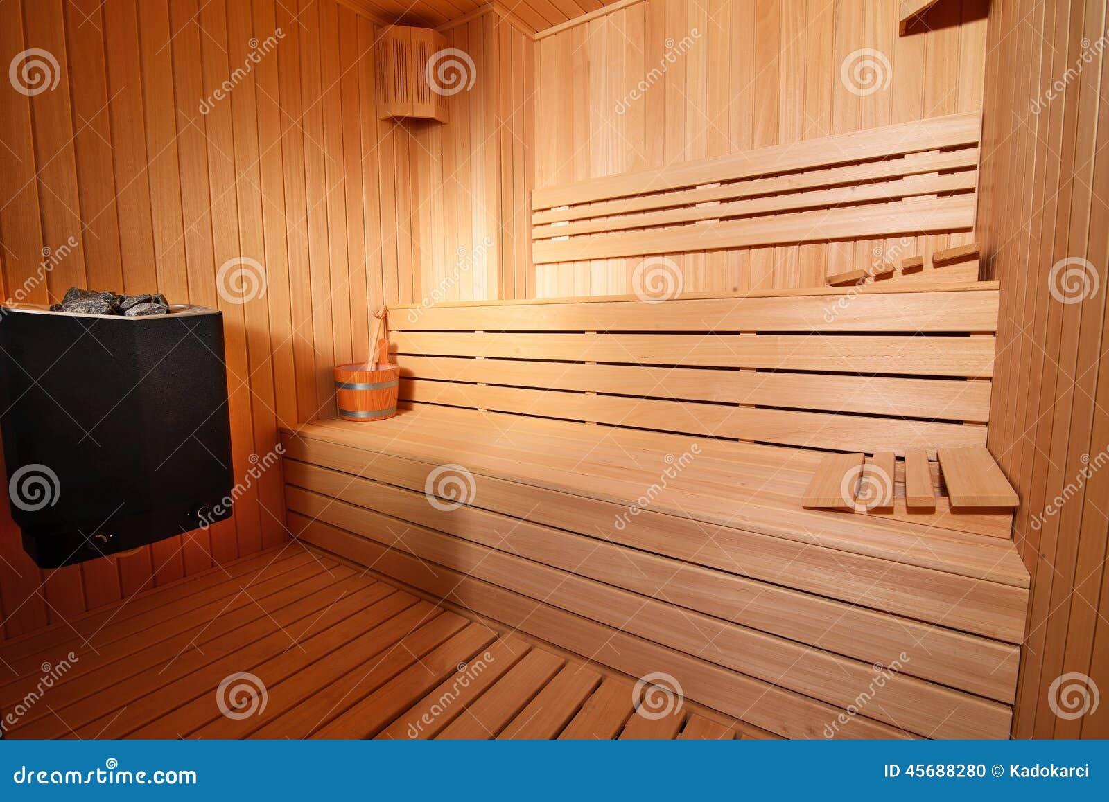 Interiore di sauna