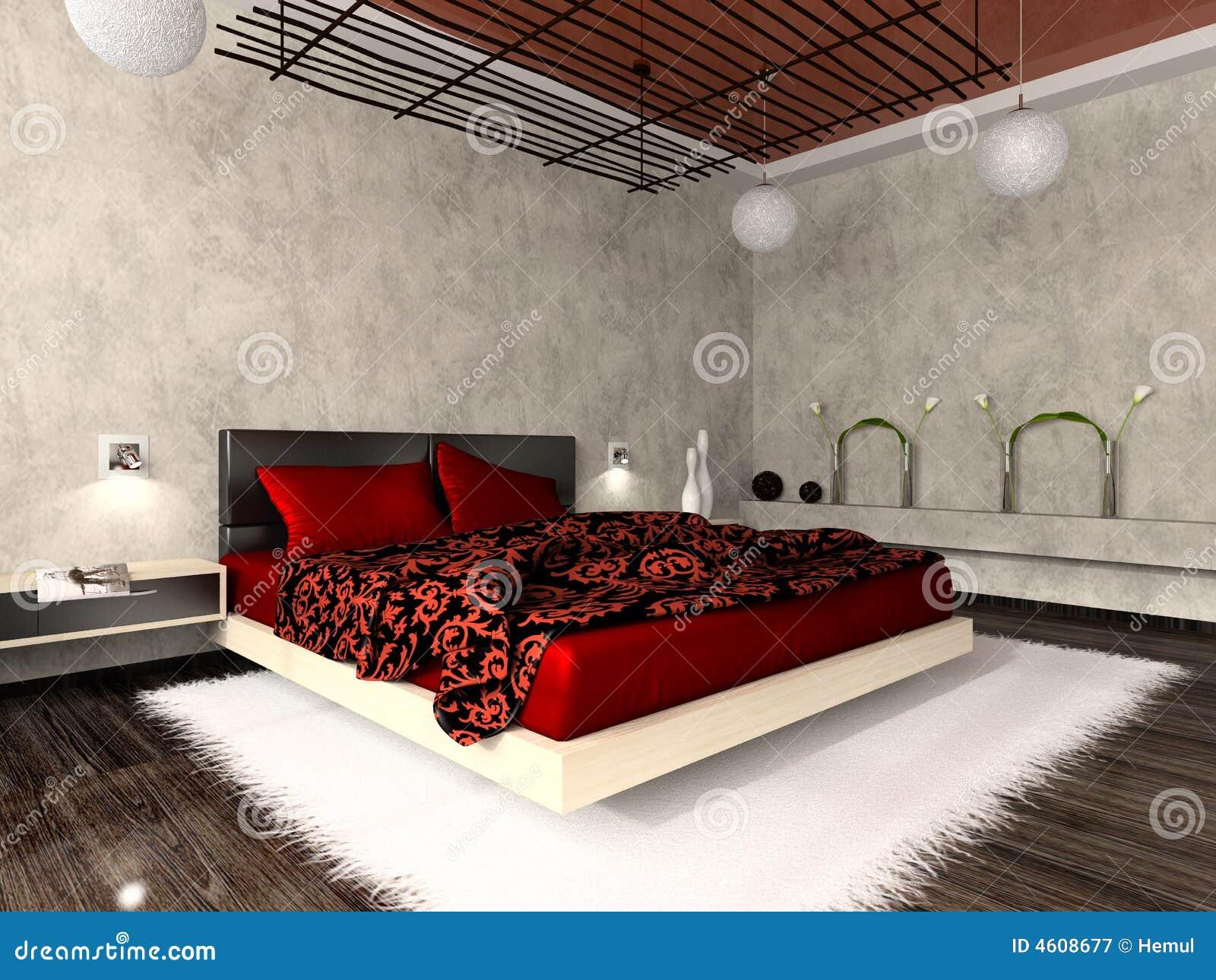 Interiore lussuoso della camera da letto illustrazione di for Dove comprare camera da letto