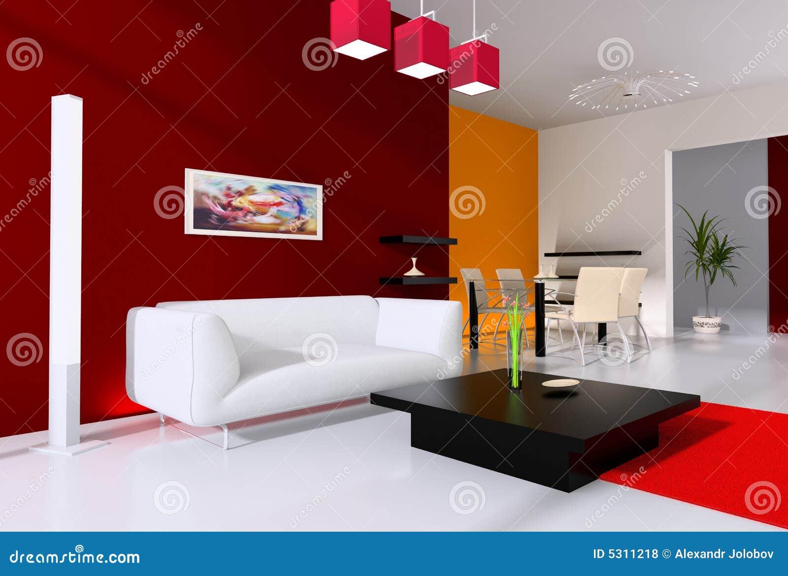 Download Interiore moderno illustrazione di stock. Illustrazione di campione - 5311218