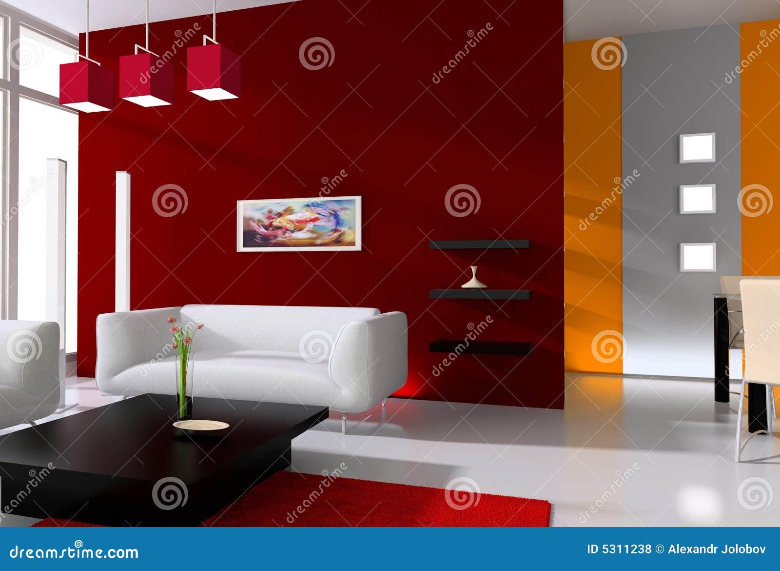 Download Interiore moderno illustrazione di stock. Illustrazione di arte - 5311238