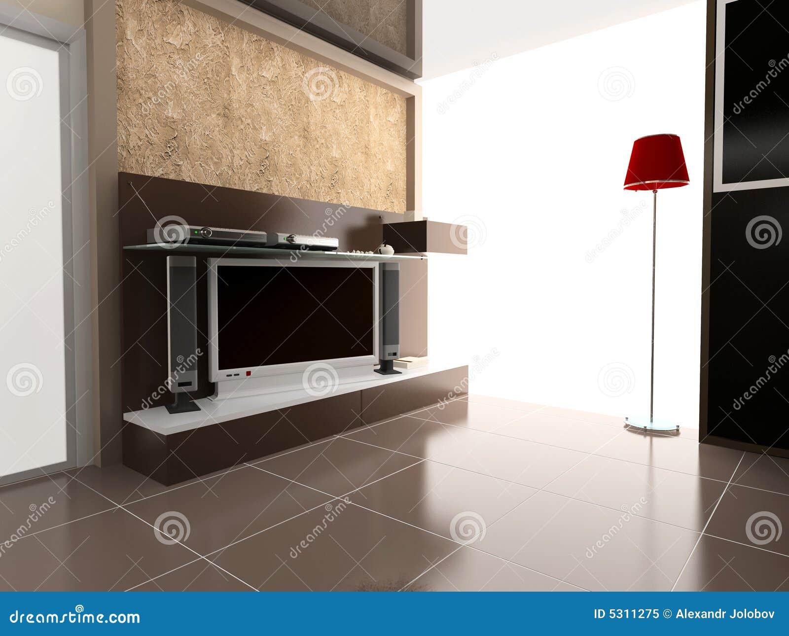 Download Interiore moderno illustrazione di stock. Illustrazione di studio - 5311275
