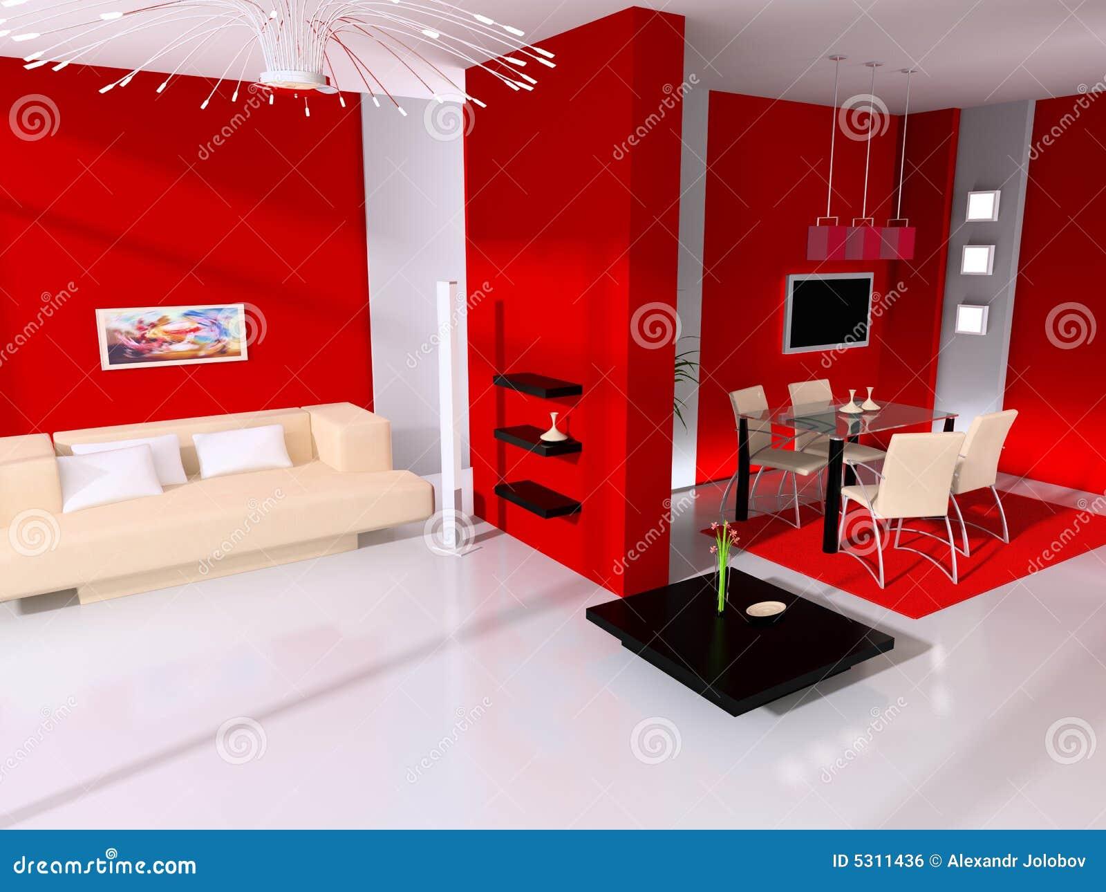 Download Interiore moderno illustrazione di stock. Illustrazione di vita - 5311436
