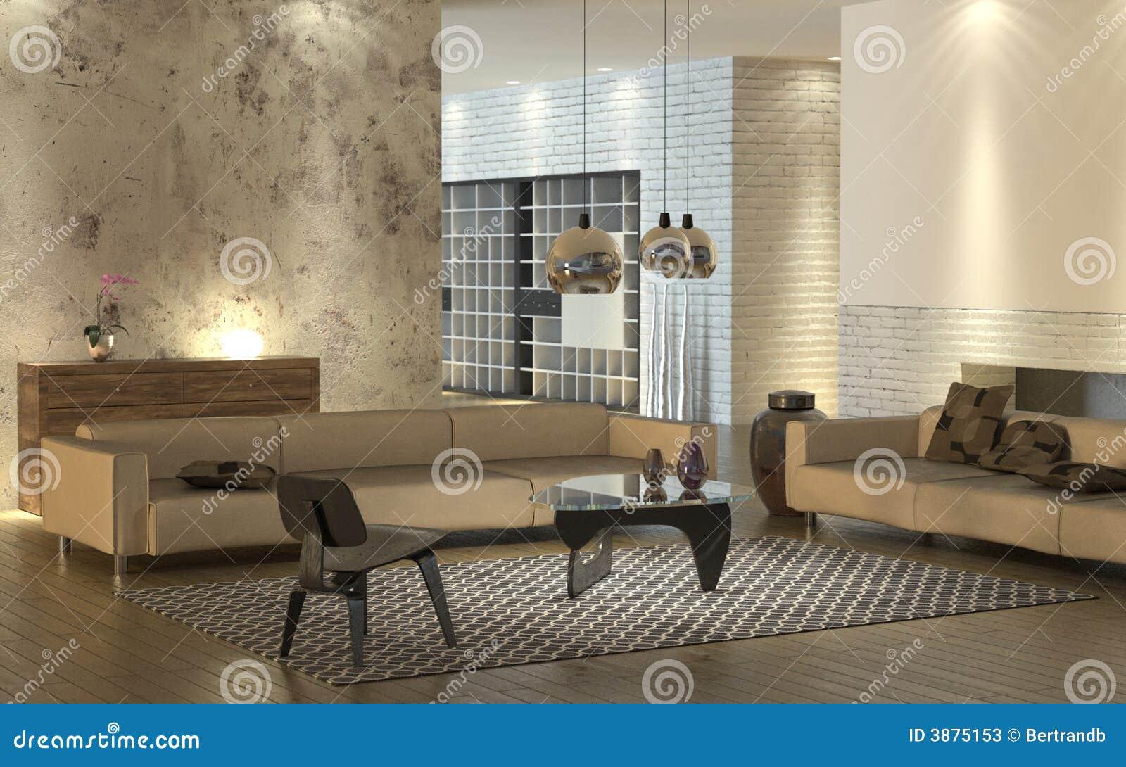 Interiore moderno caldo