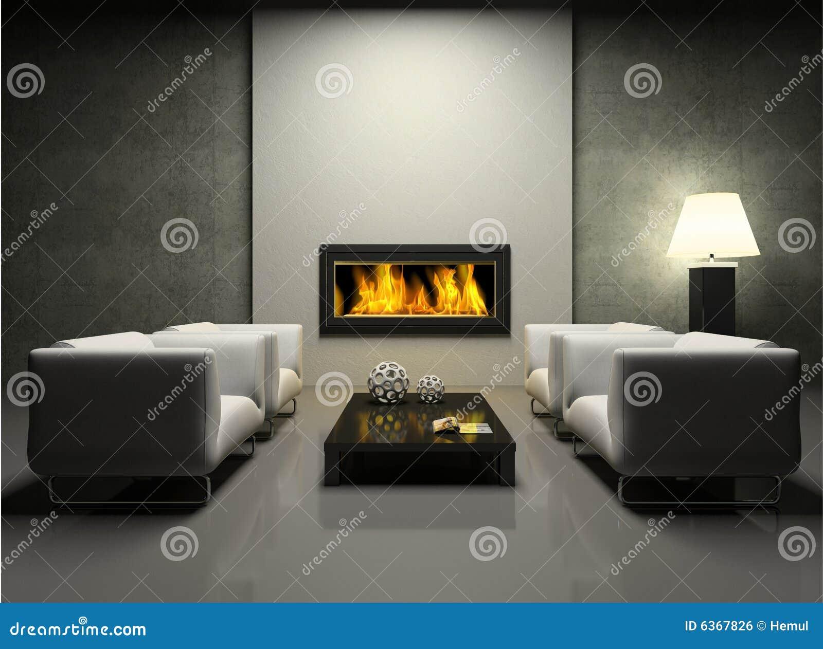 salone moderno con il camino immagini stock - immagine: 29217964 - Salone Moderno Con Camino