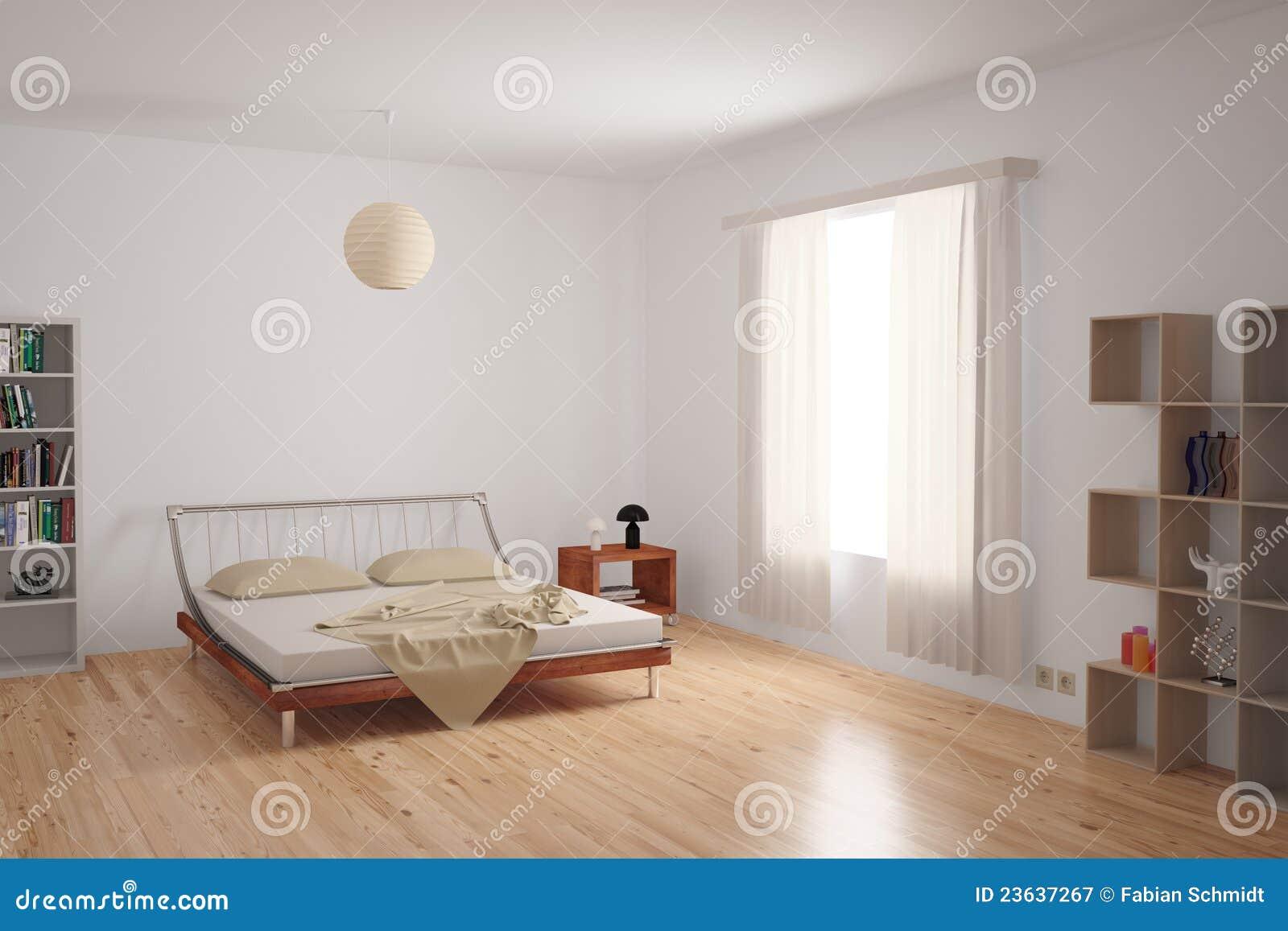 Interiore moderno della camera da letto