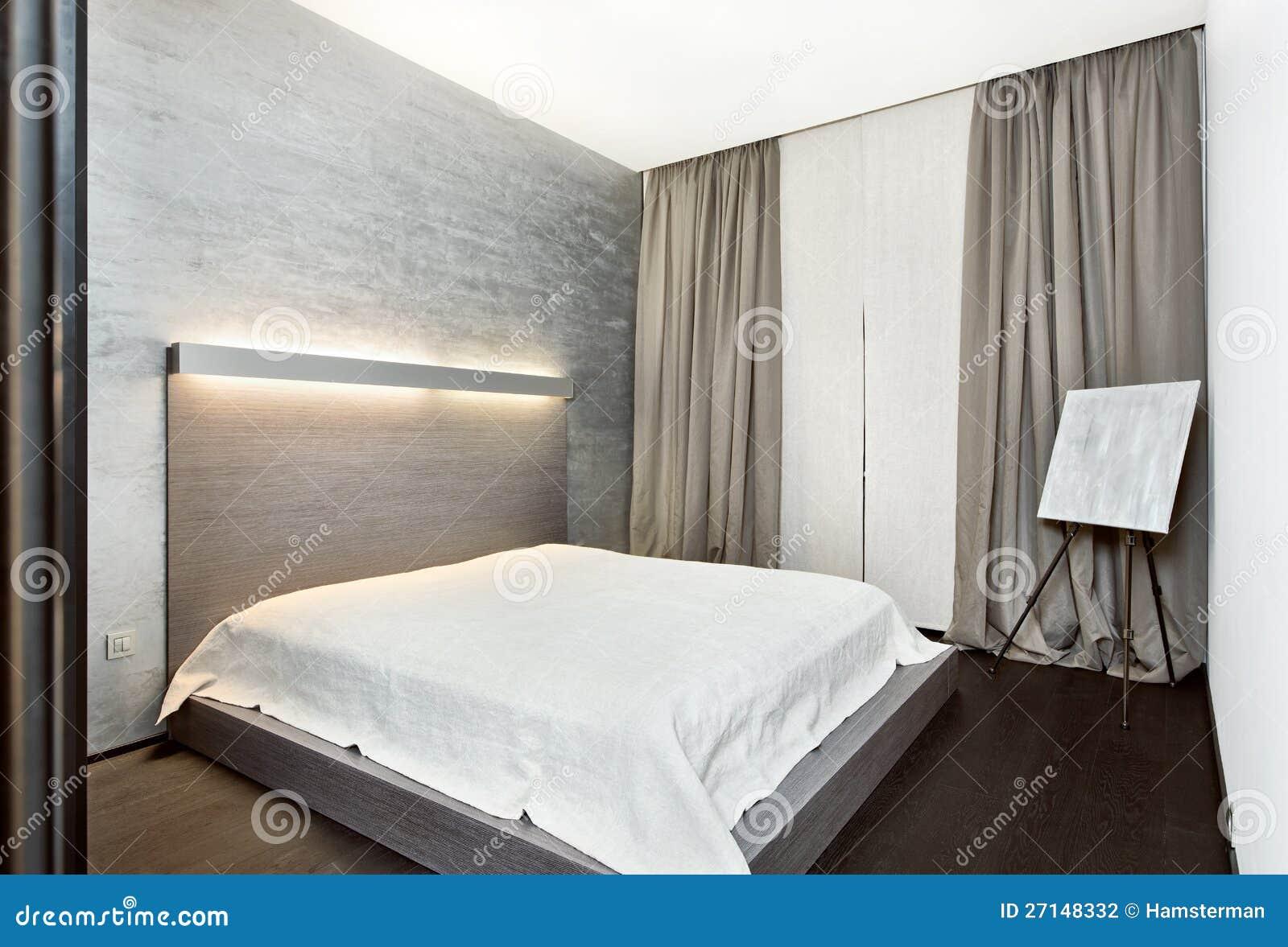 Interiore moderno della camera da letto di stile di - Letto stile moderno ...