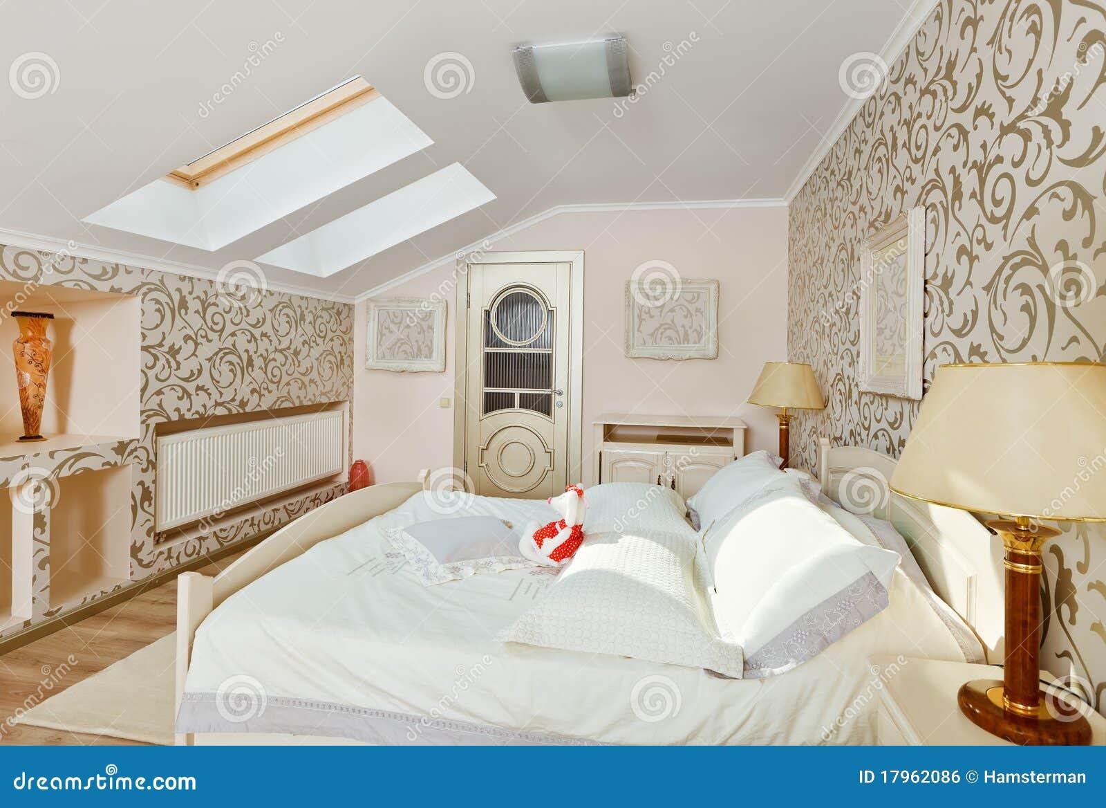 Pittura Stanza Da Letto interiore moderno della camera da letto nei colori beige