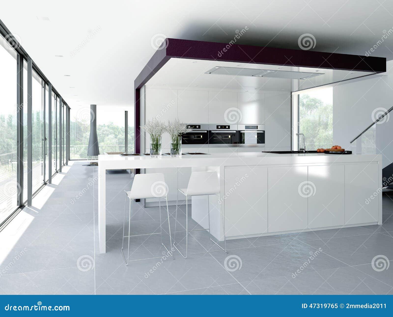 Interiore Moderno Della Cucina Concetto Di Progetto 3d ...
