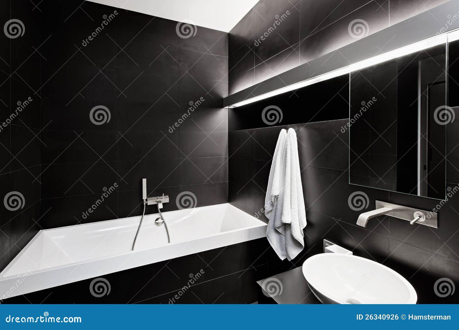 Sala Da Bagno Stile Contemporaneo : Interiore moderno della stanza da bagno di stile di minimalism nel