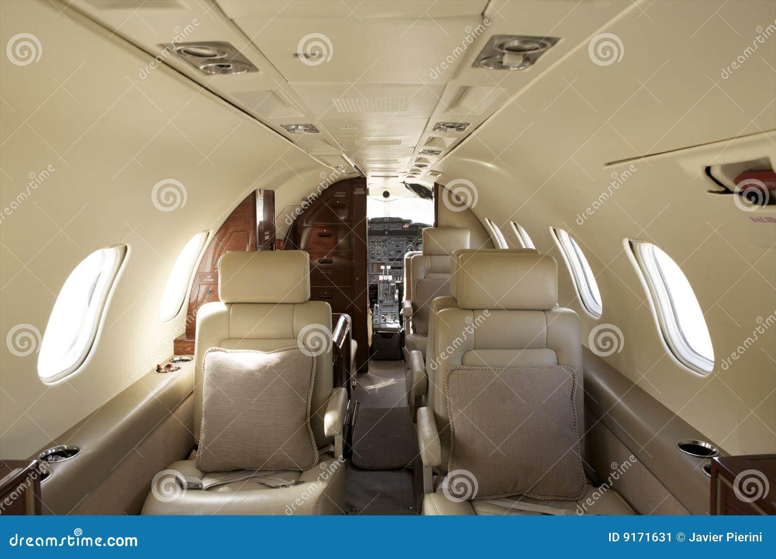 Interiore privato del jet