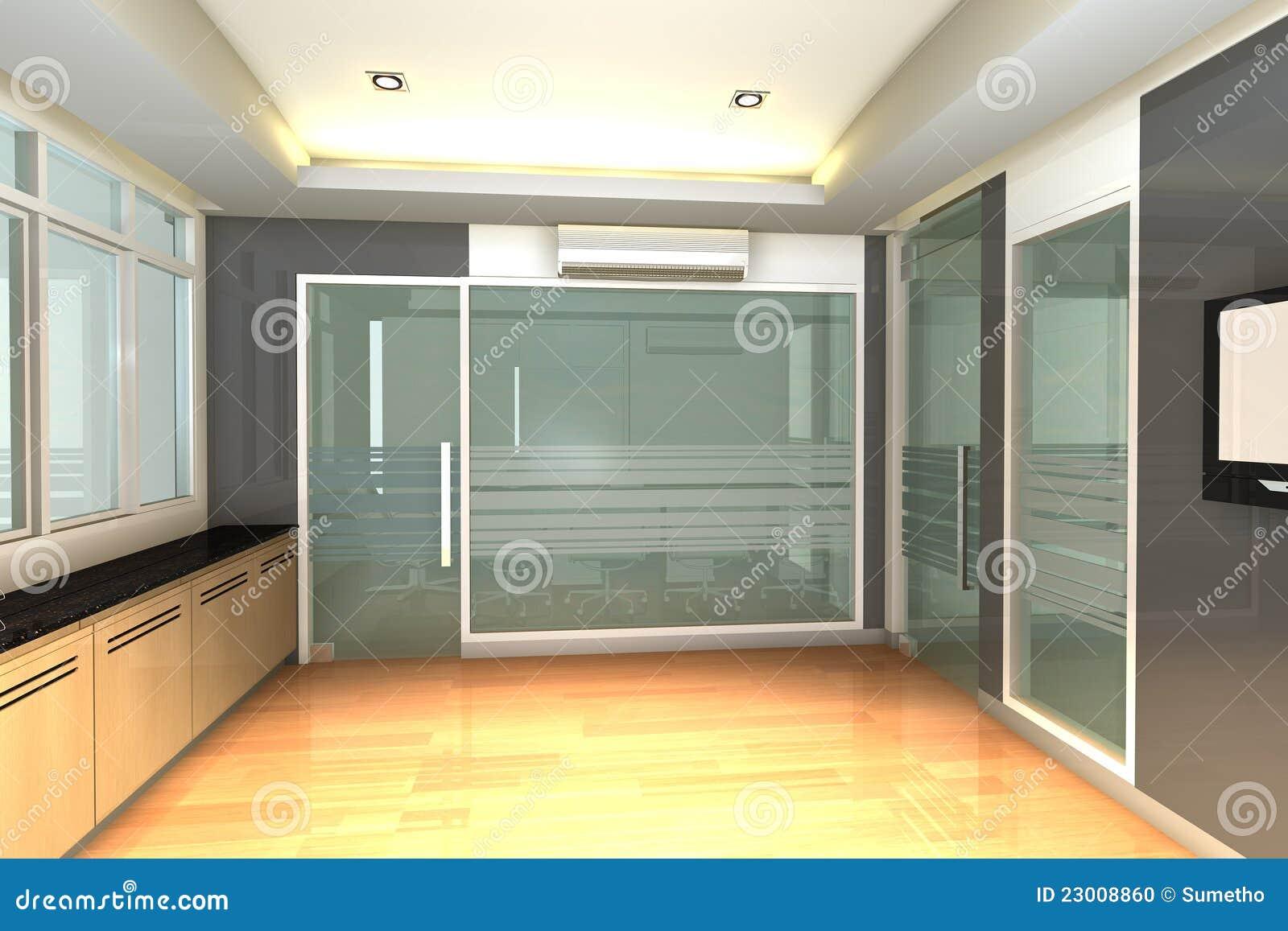 Ufficio Moderno Foto : Interiore vuoto per l ufficio moderno di affari illustrazione di