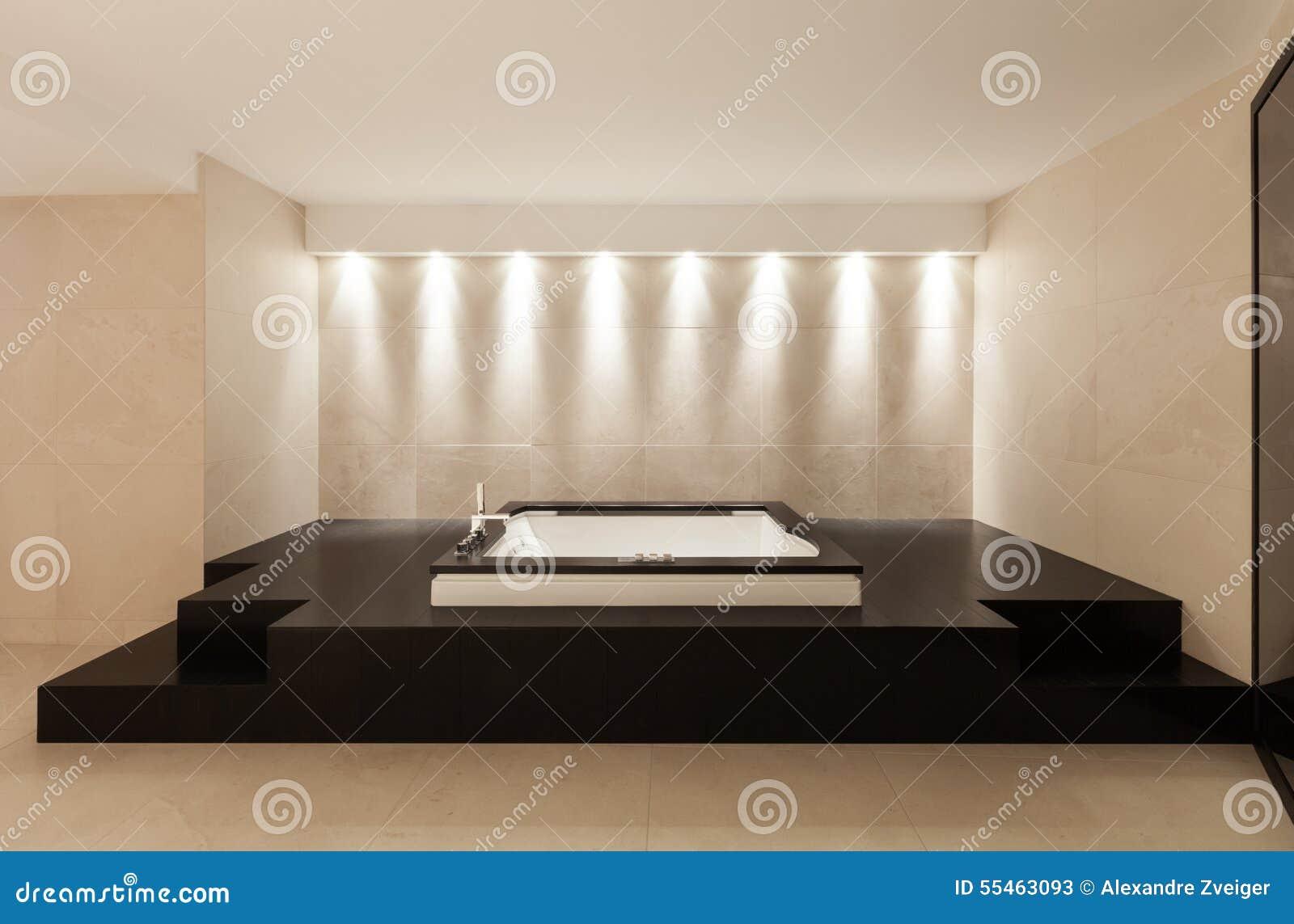 interiores cuarto de bao con el jacuzzi
