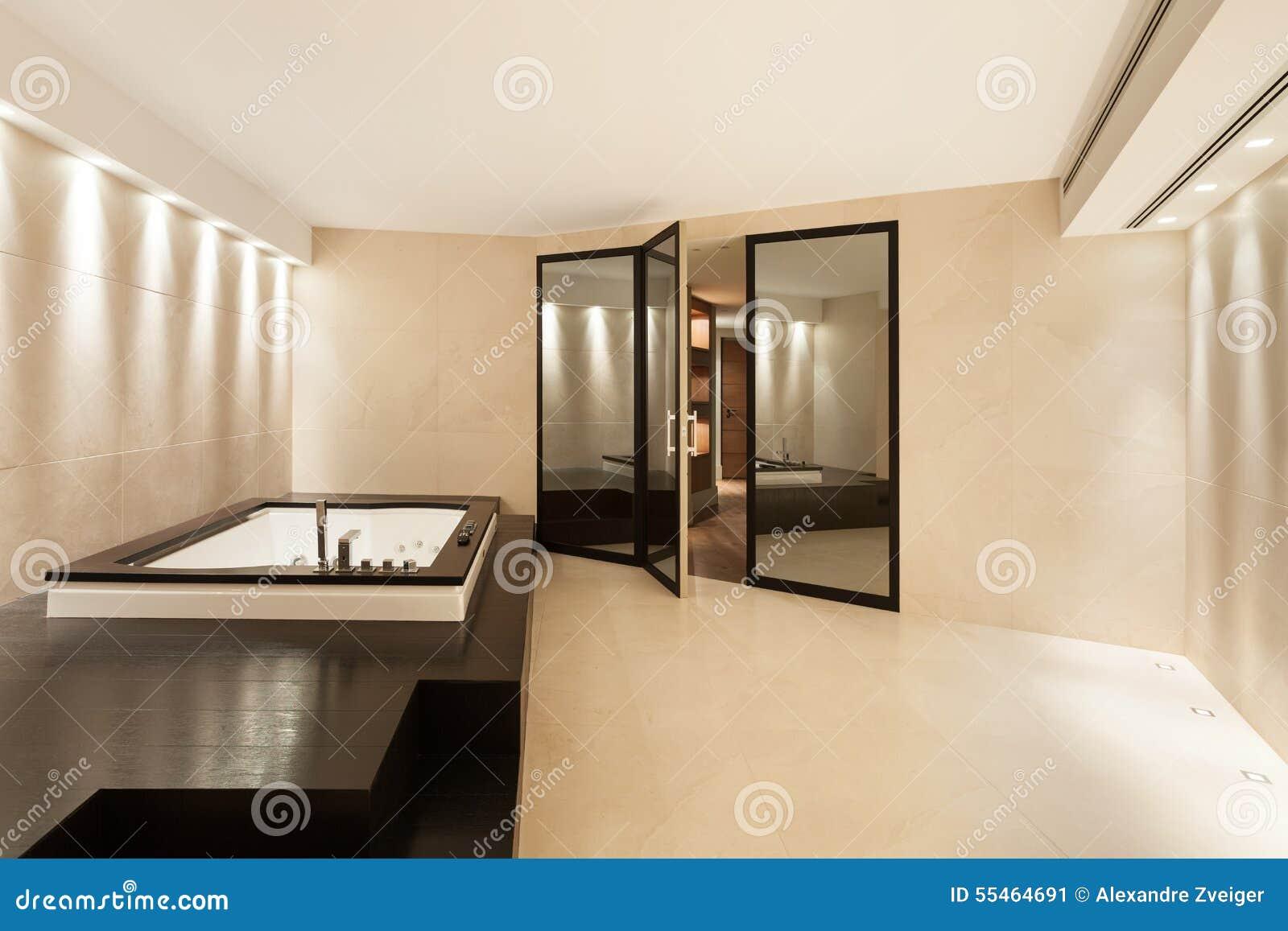 Interiores cuarto de ba o con el jacuzzi foto de archivo imagen 55464691 - Jacuzzi para interior ...