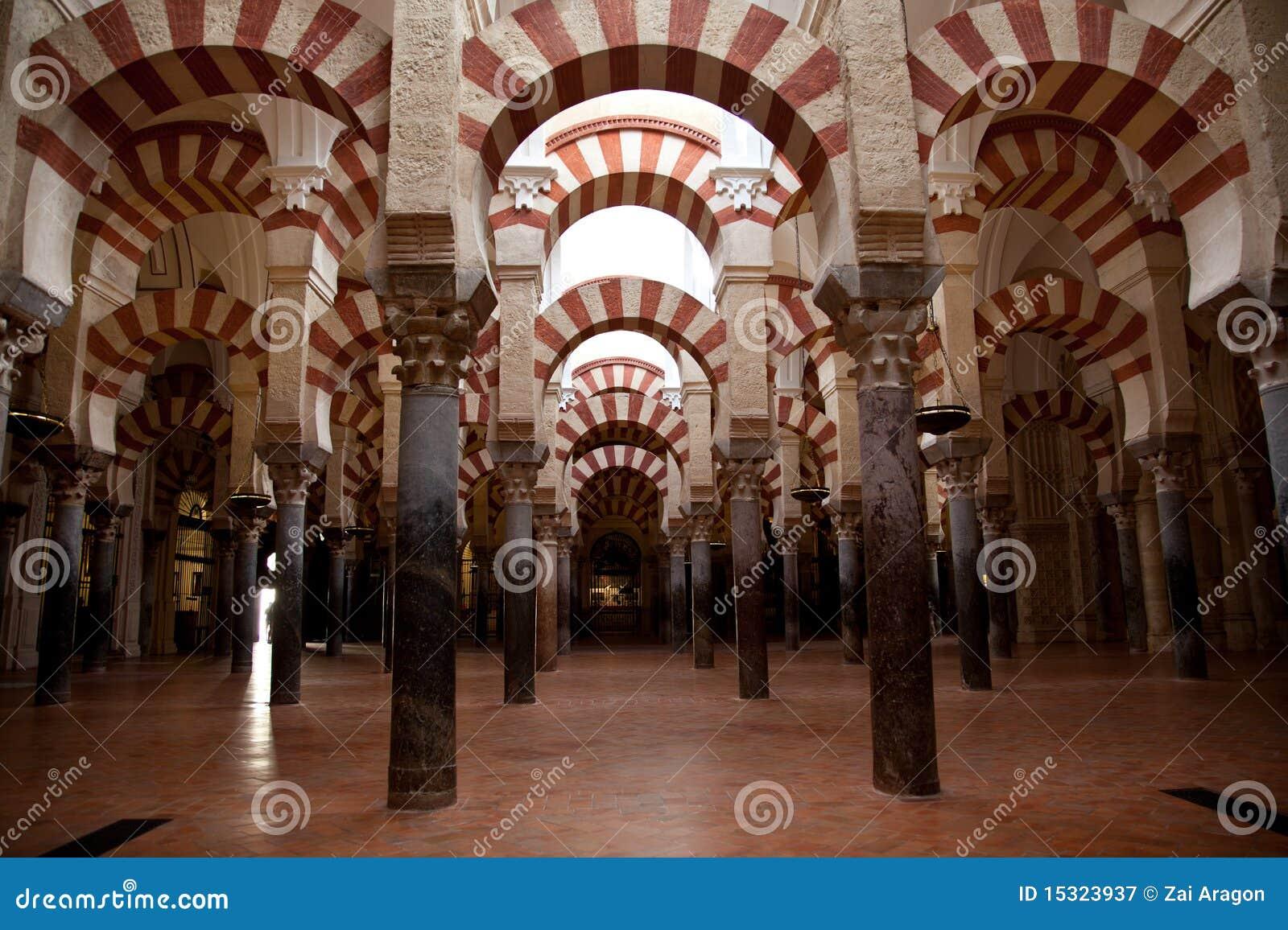 Interiores de la mezquita de Córdoba