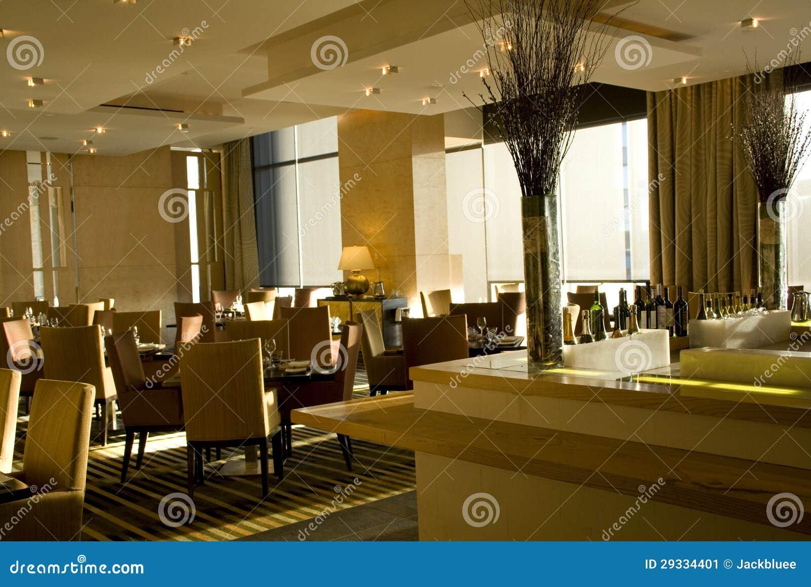 Interiores de lujo del restaurante de la barra imagen de for Disenos de interiores restaurantes