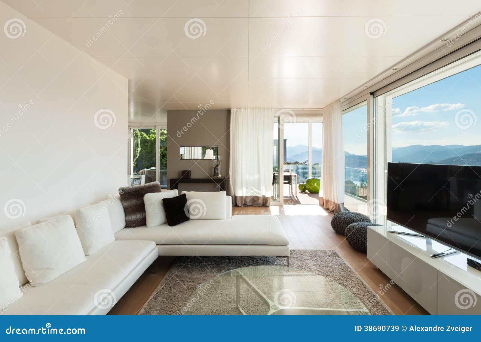Interiores de uma casa moderna imagem de stock imagem de for Interni casa moderna foto