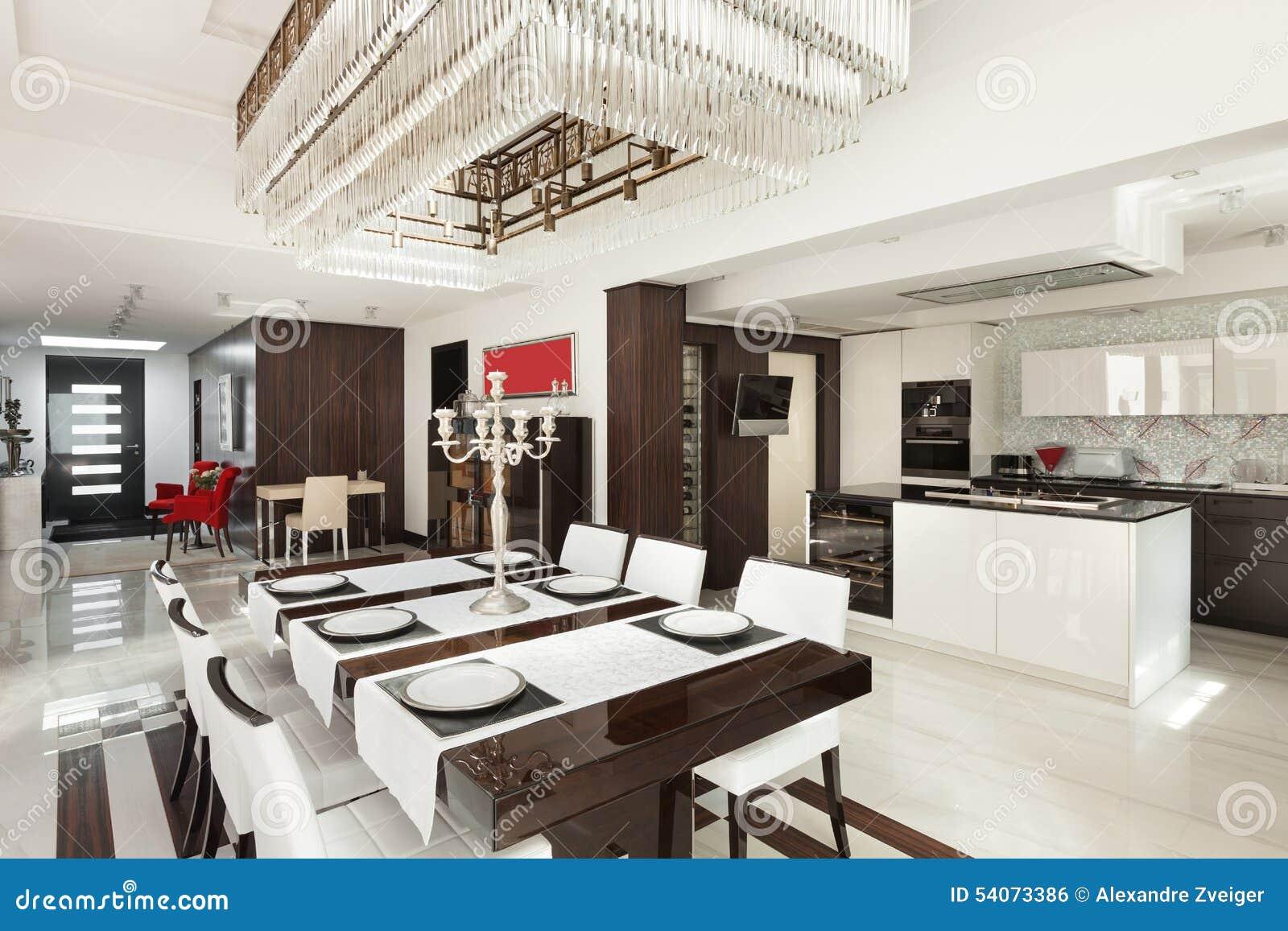 Interiores sala de jantar luxuosa foto de stock imagem for Interiores de salas