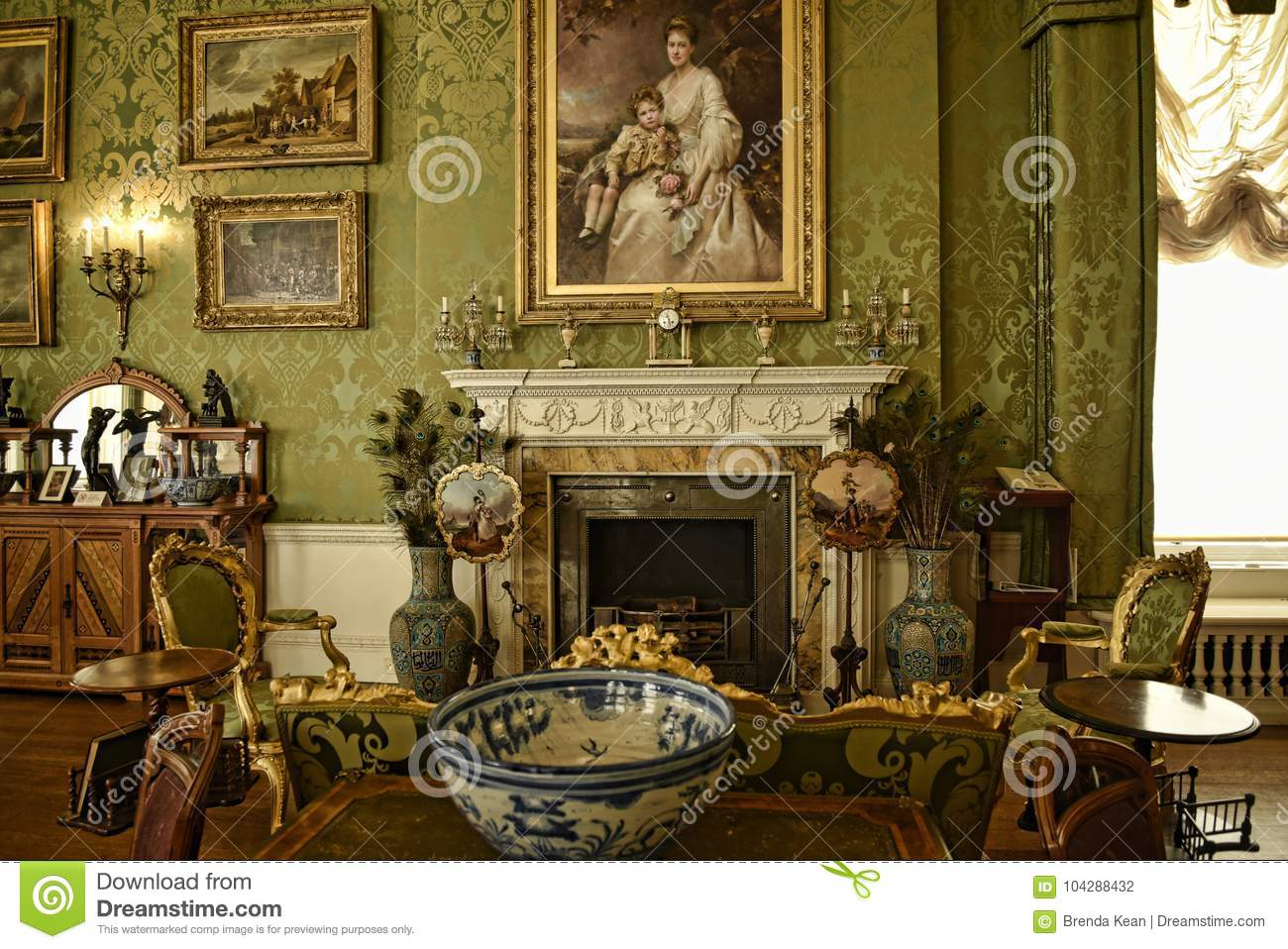 Interiors and art objects at a Beautiful Country House near Leeds West Yorkshire that is not a National Trust Property