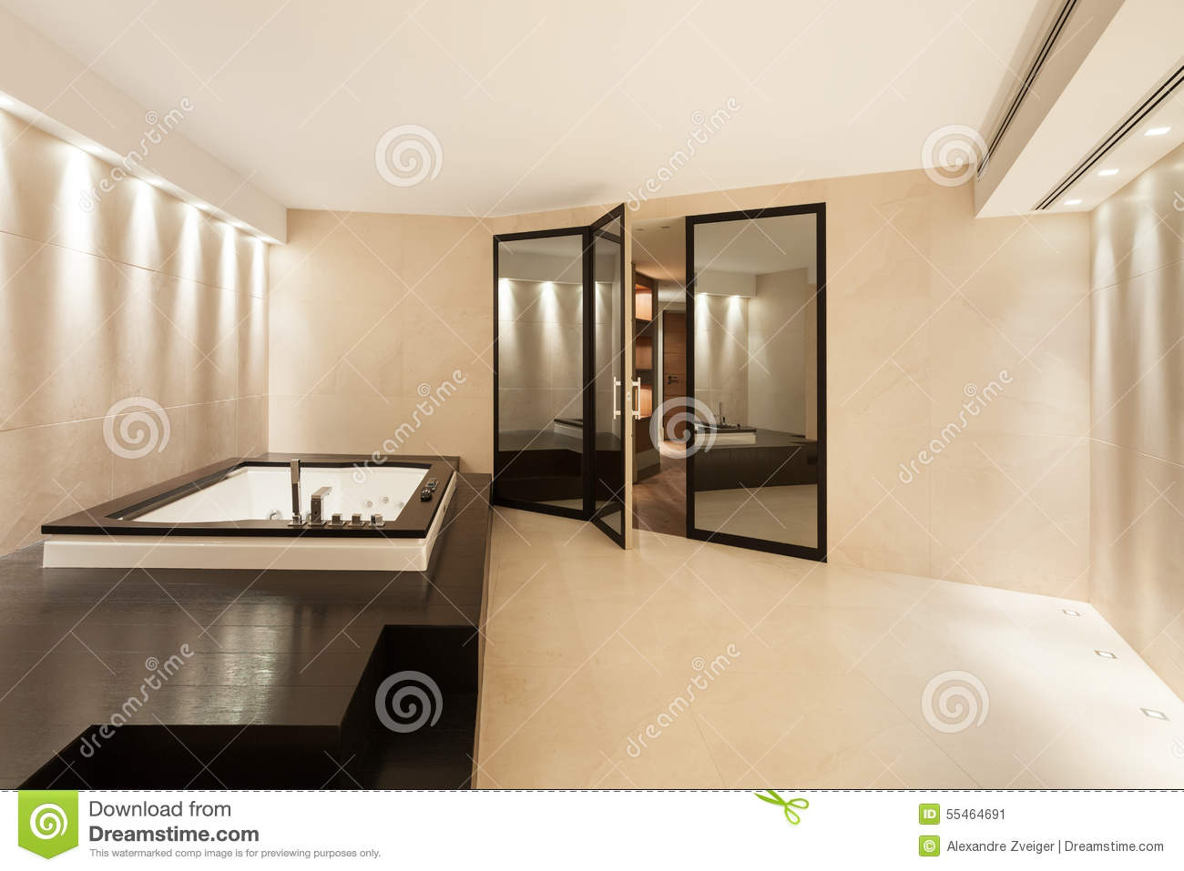 Interiors bathroom with jacuzzi stock image image of marble