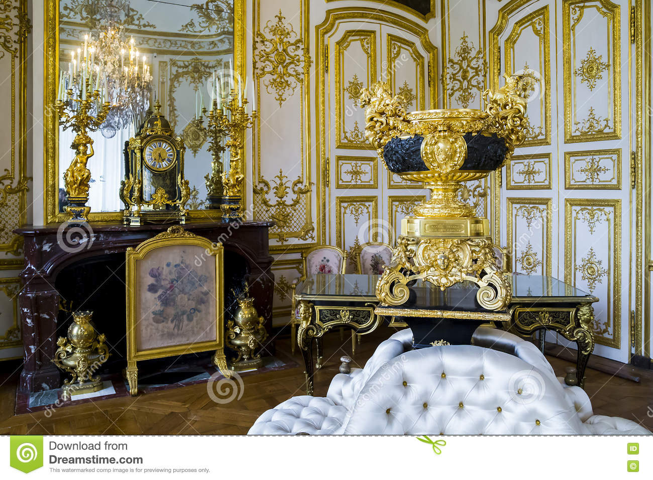The interiors of the castle Chantilly