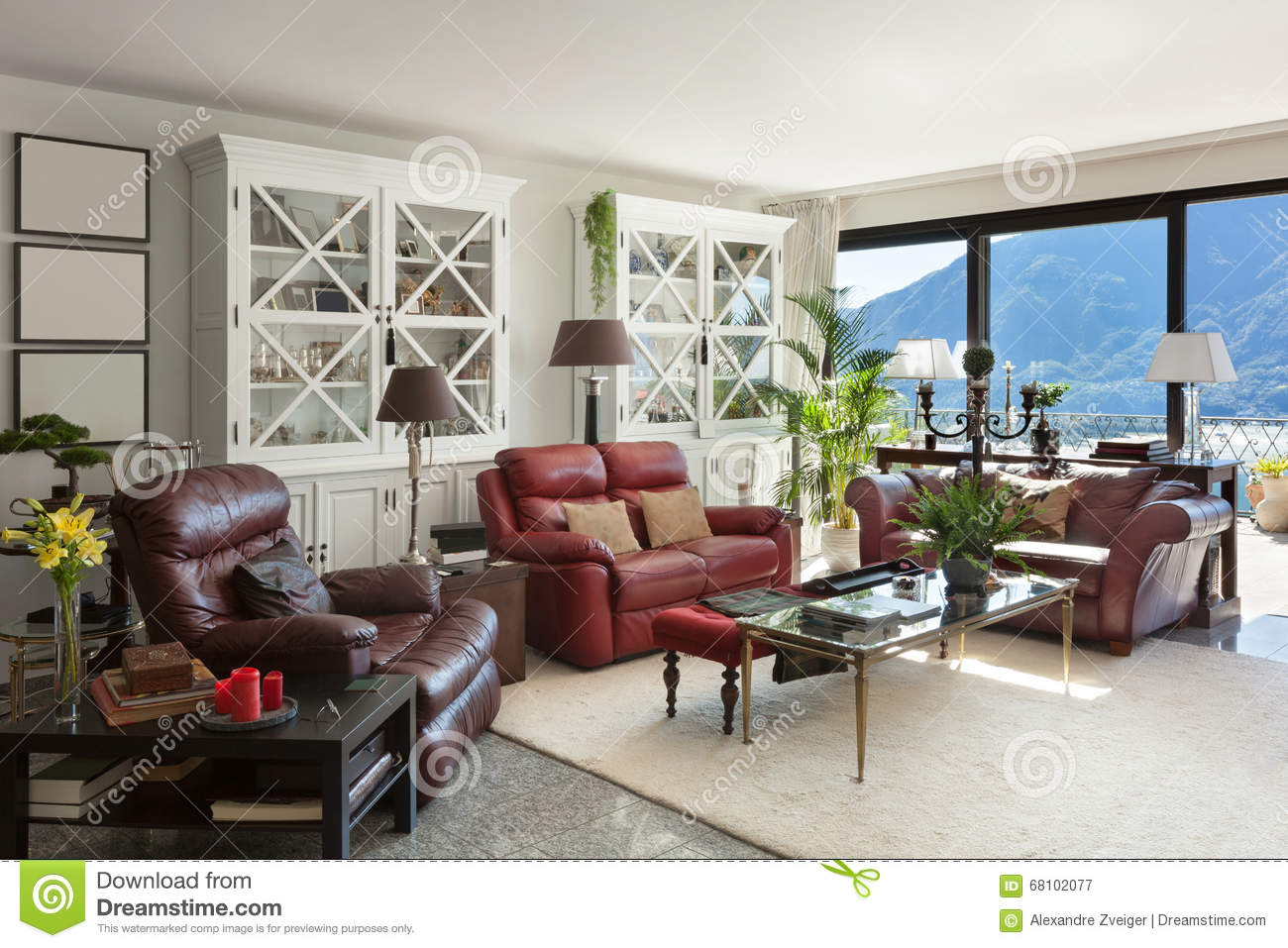 Interiors Comfortable Living Room Stock Image Image Of Design