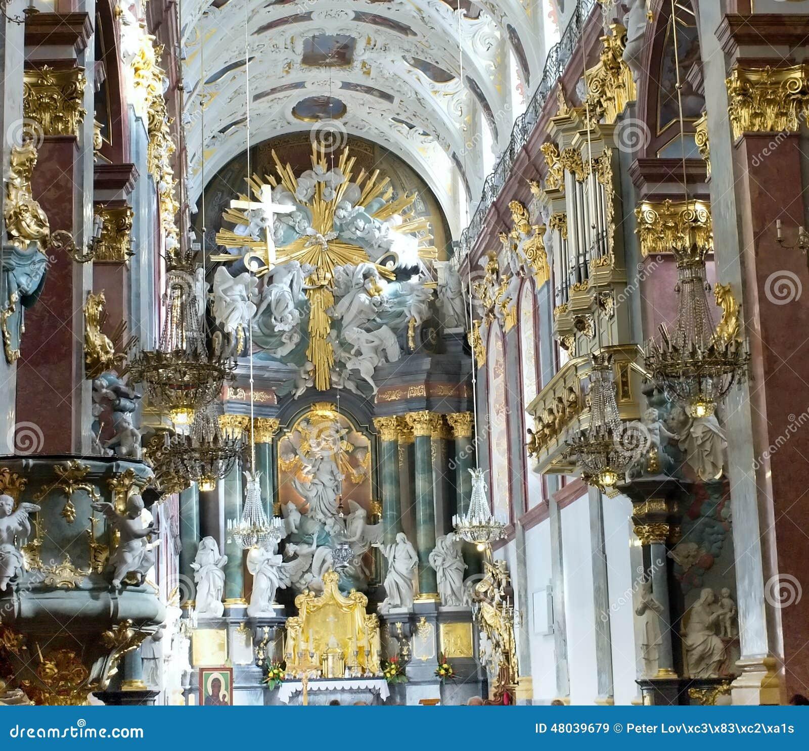 Interiors Of Jasna Gora Monastery In Czestochowa Stock
