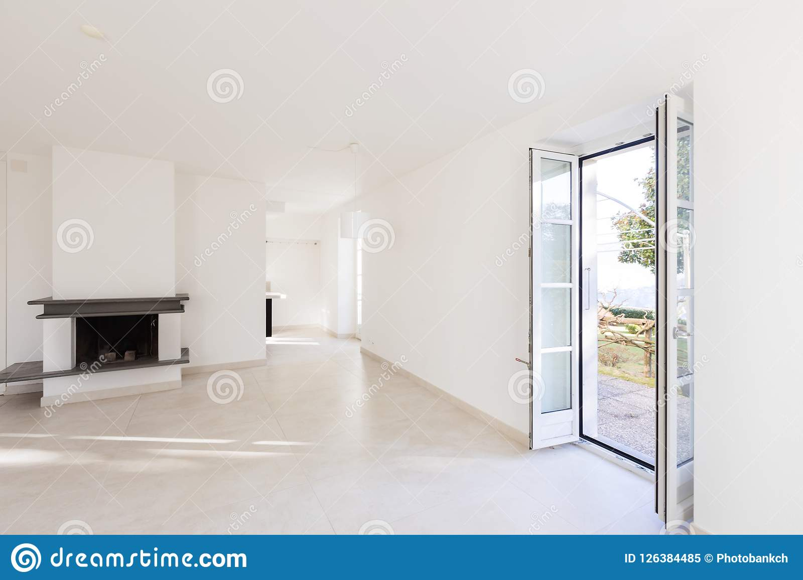 Interiors Of Modern House, Empty Room Stock Image , Image of