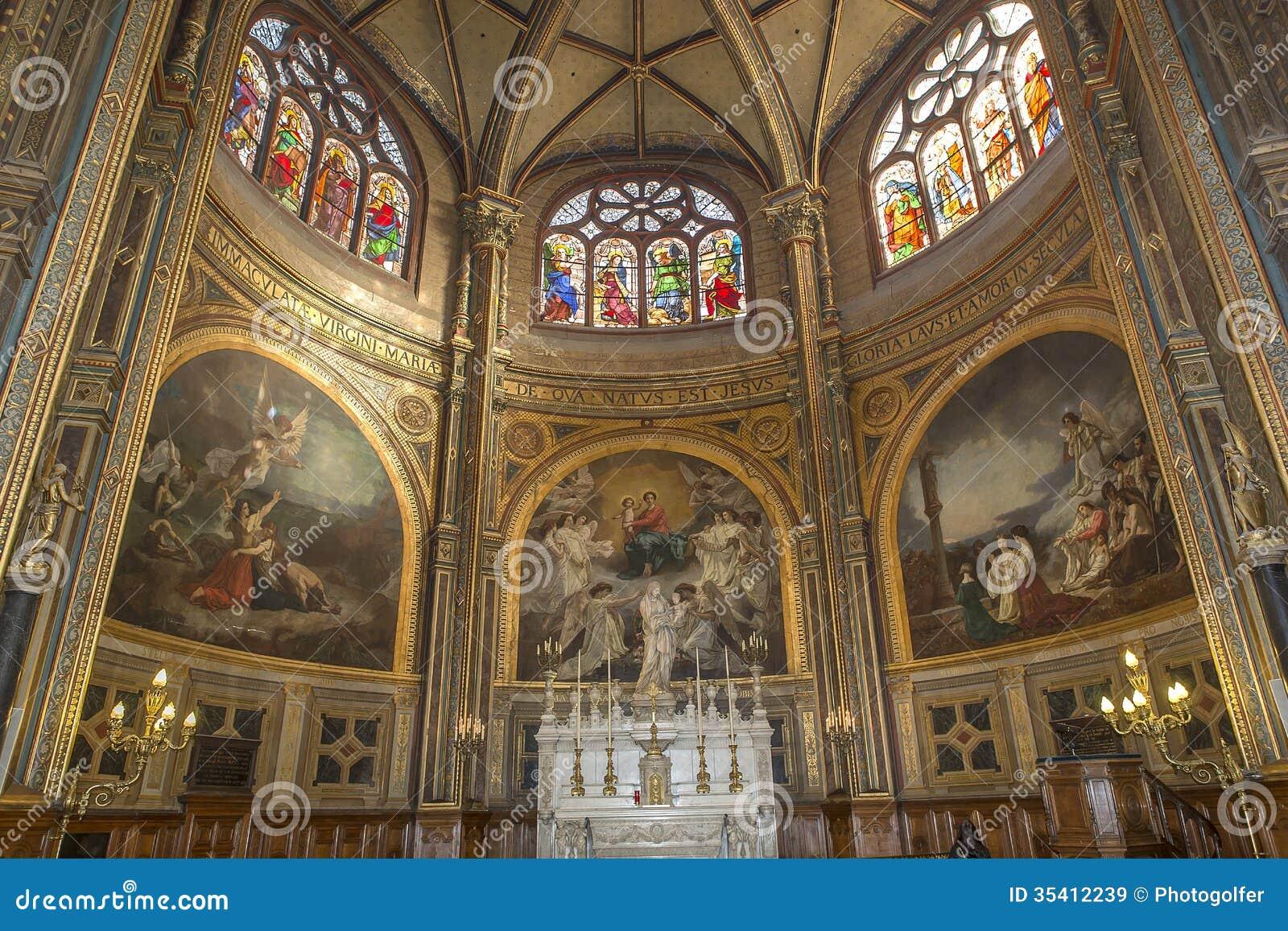 Interiors of saint eustache church paris france stock for Domon saint eustache