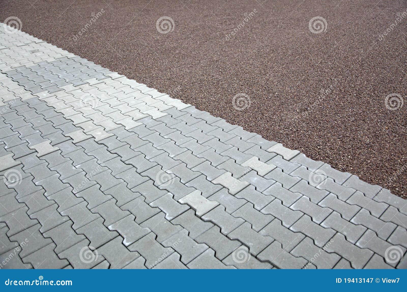 Z Brick Flooring : Interlocking brick flooring royalty free stock photography