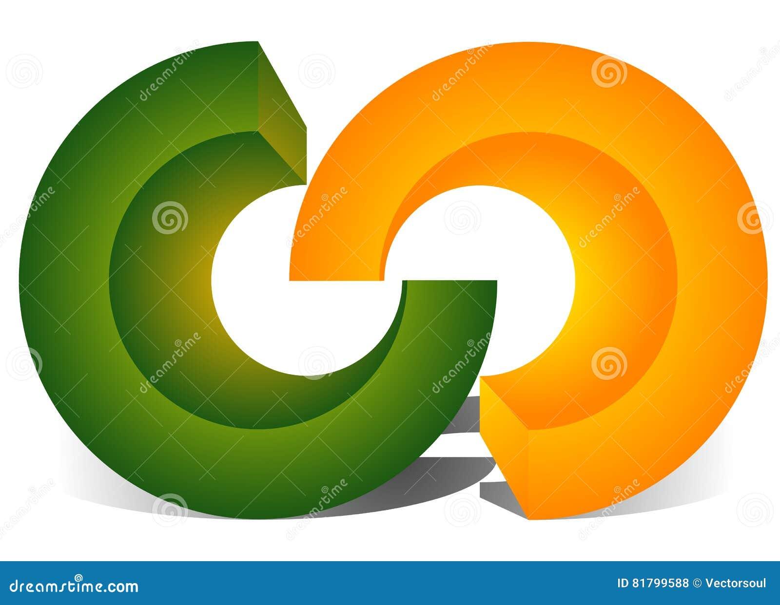 Interlocking circles, interlocking rings as abstract connection,