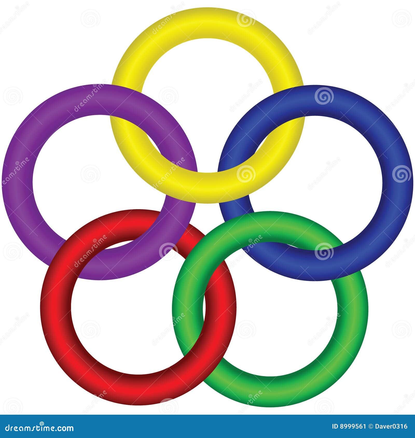 Interlocking form för cirkel 3d