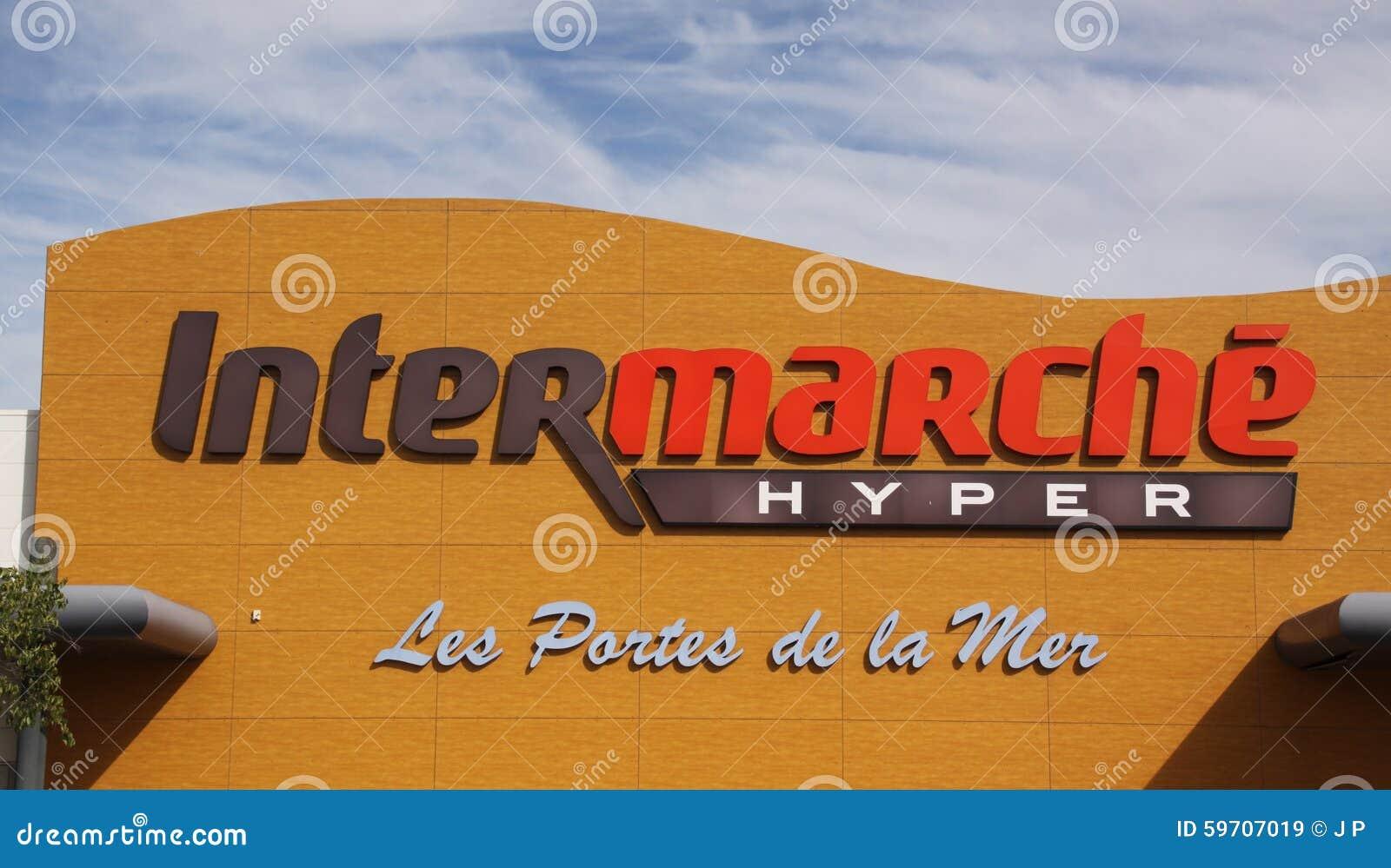 Intermarche Is A European Supermarket Chain Editorial Stock Image