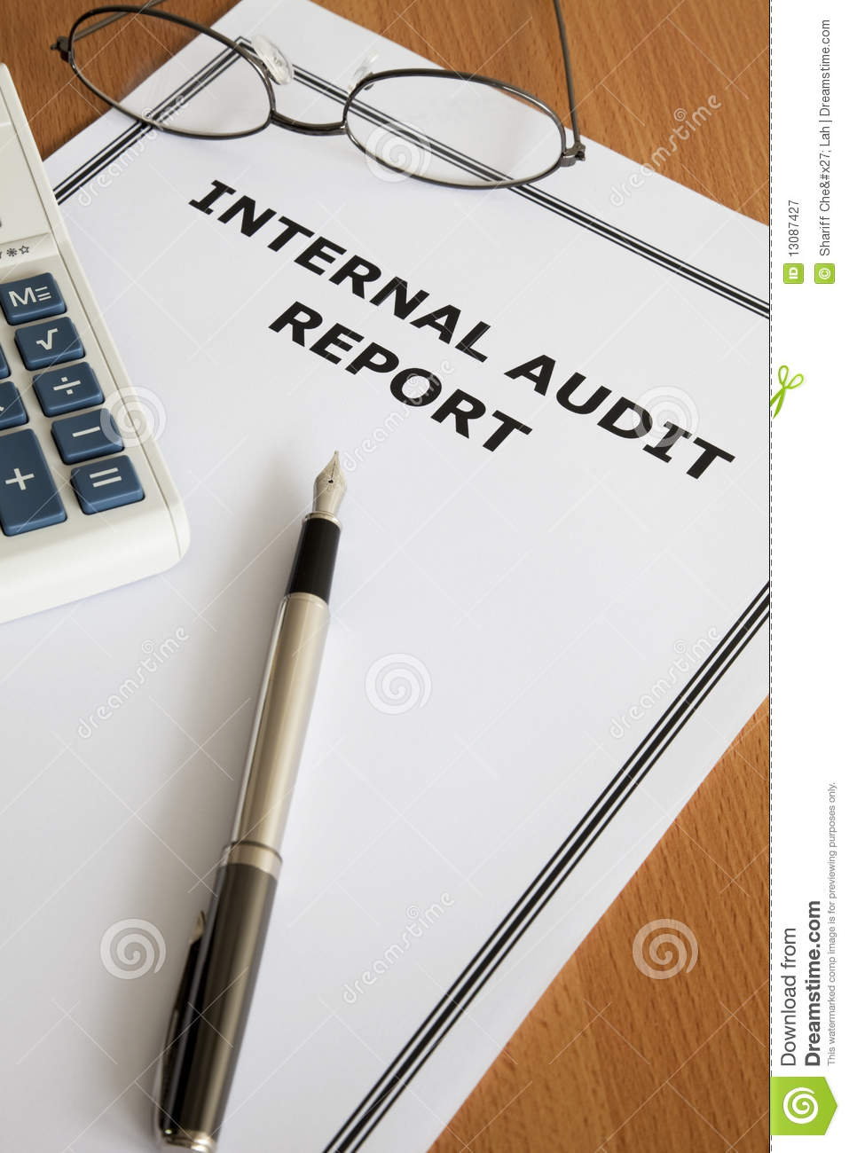Internal Audit Report stock image  Image of auditing - 13087427
