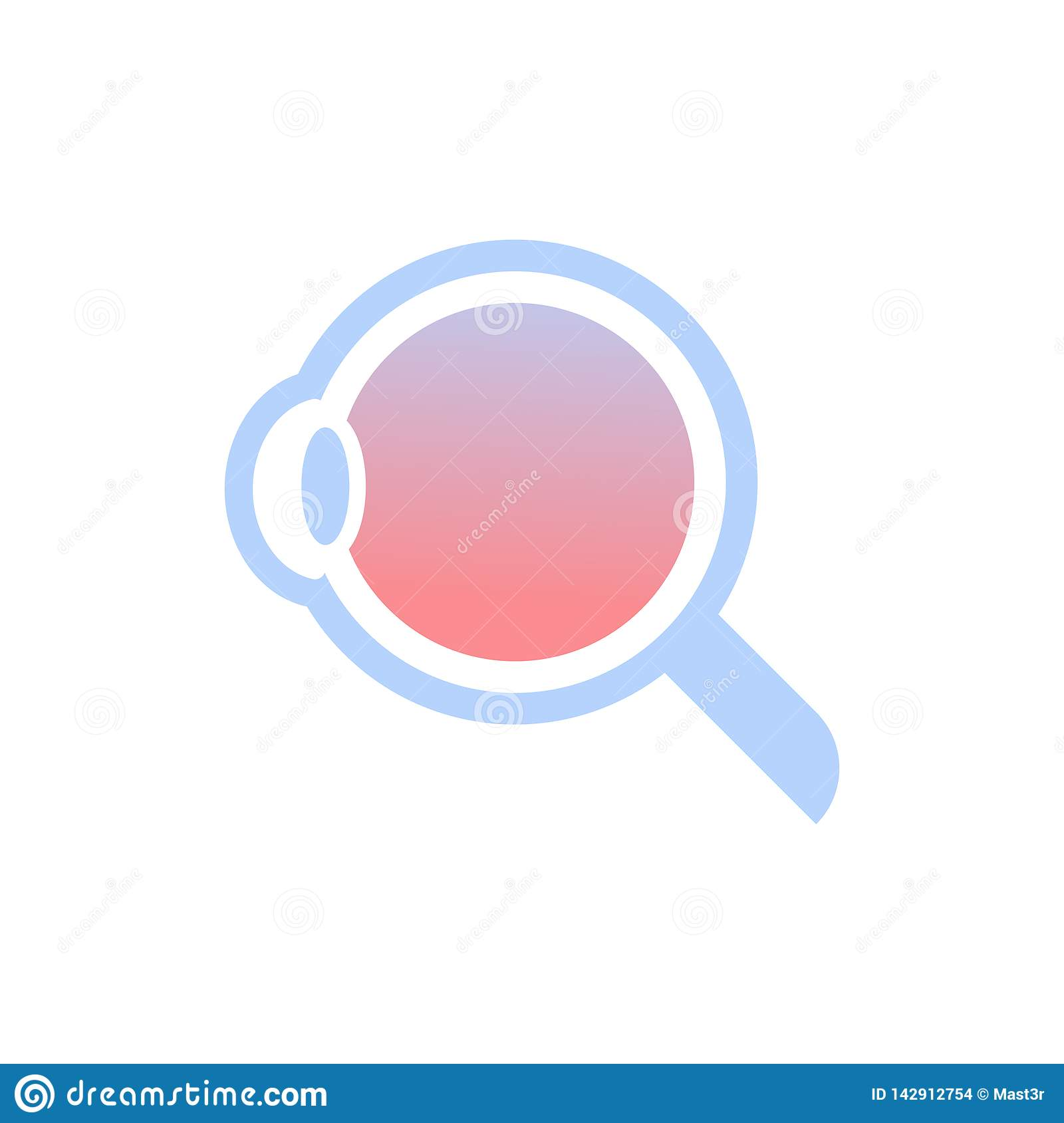 Internal structure human eye anatomy detailed eyeball icon medical healthcare concept flat white background