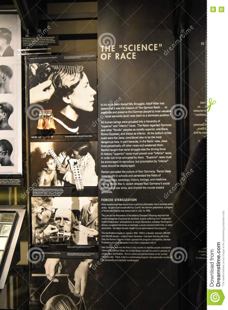 Internal View Of The Holocaust Memorial Museum In Washington DC - German museums in usa