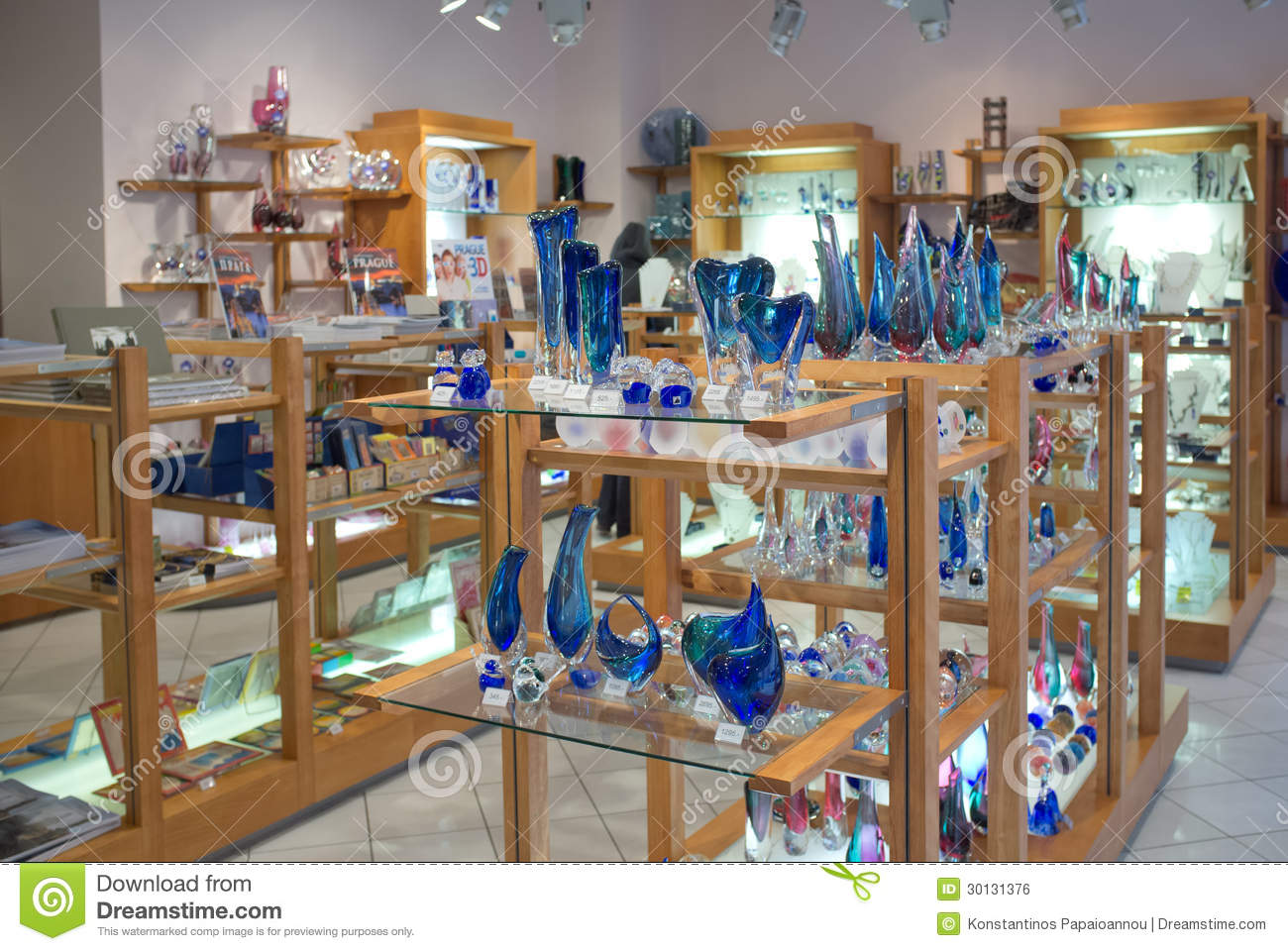 Bohemian Crystal Shop In Prague Editorial Photo - Image of