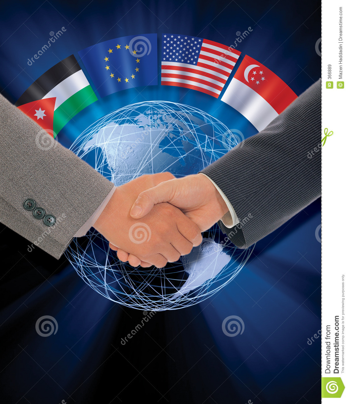 International Agreement Stock Illustration Illustration