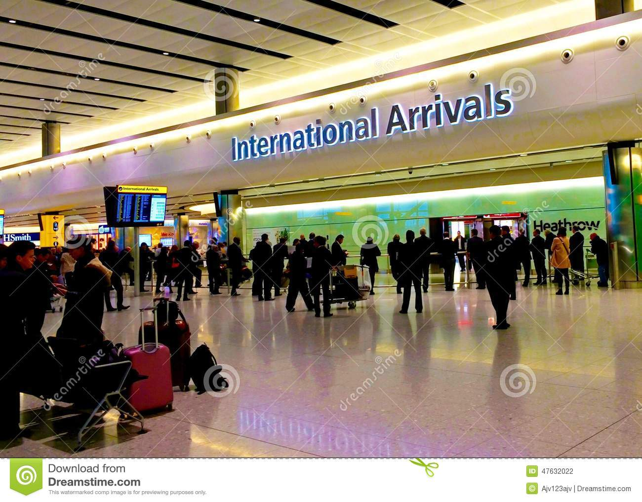 International Arrivals At Heathrow Editorial Photography ...