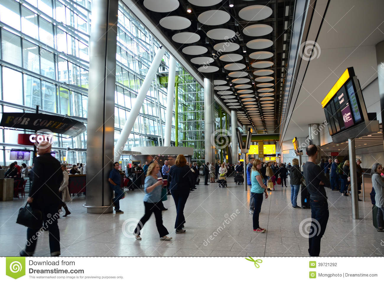 International Arrivals T5 Heathrow Airport Editorial ...