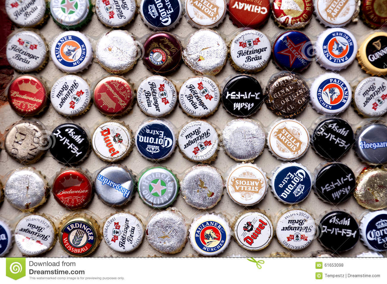 International beer caps editorial stock photo image of for What to make with beer bottle caps