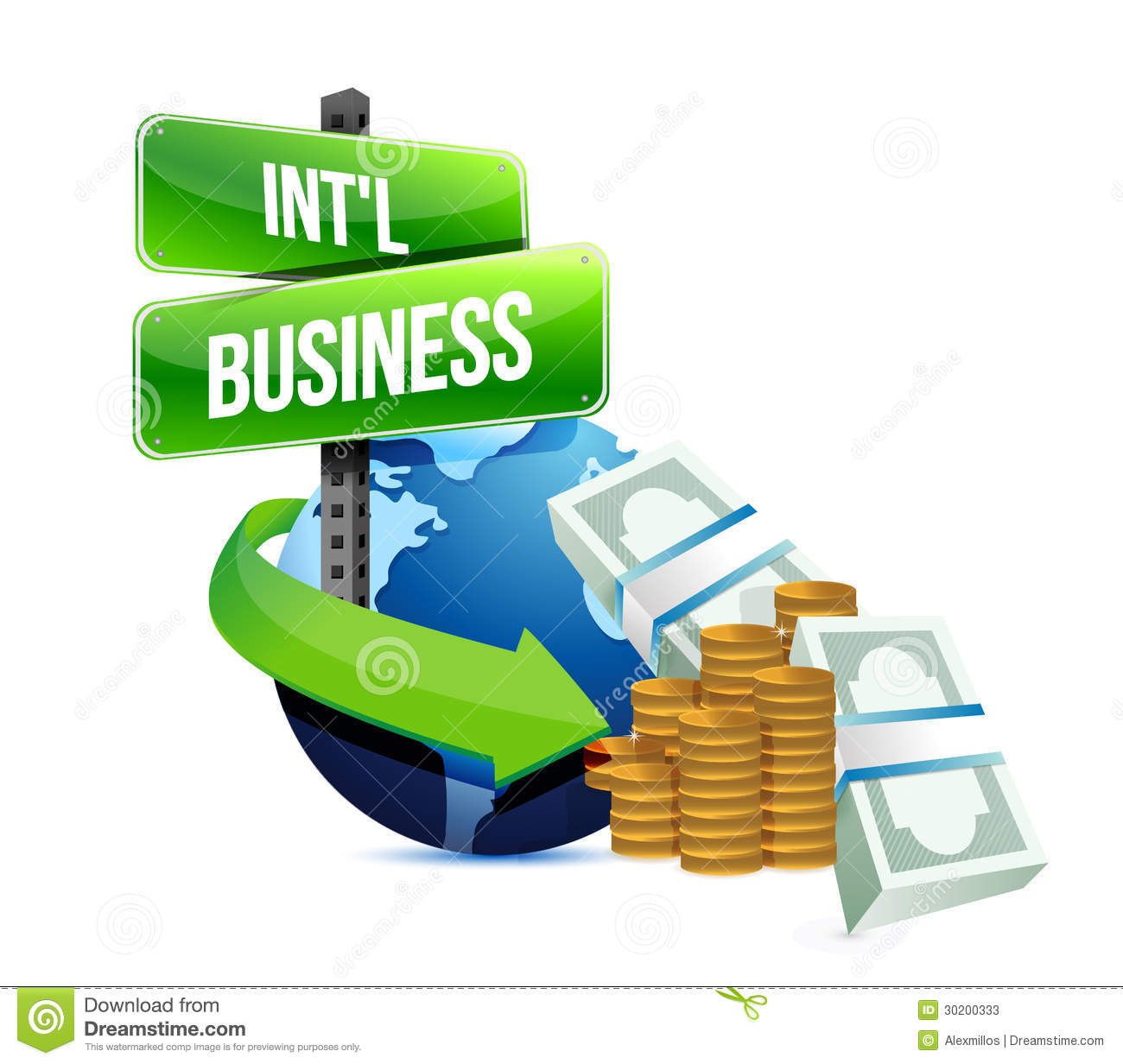 International business concept stock illustration image for International design company