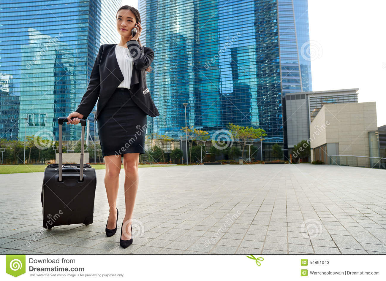 international businesswoman traveller stock photo image