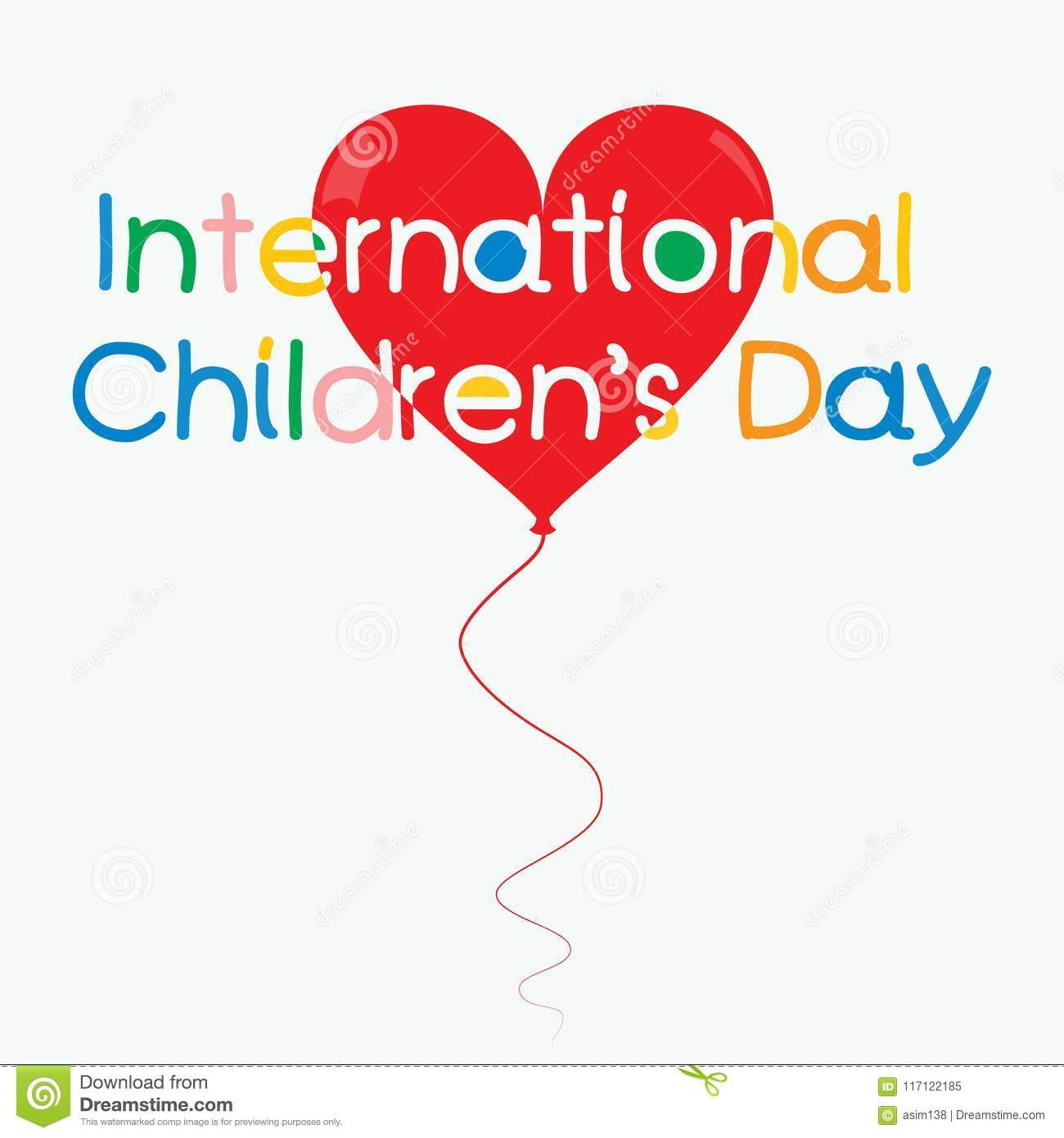 a09a2c547cde International children`s day vector colorful creative concept for poster