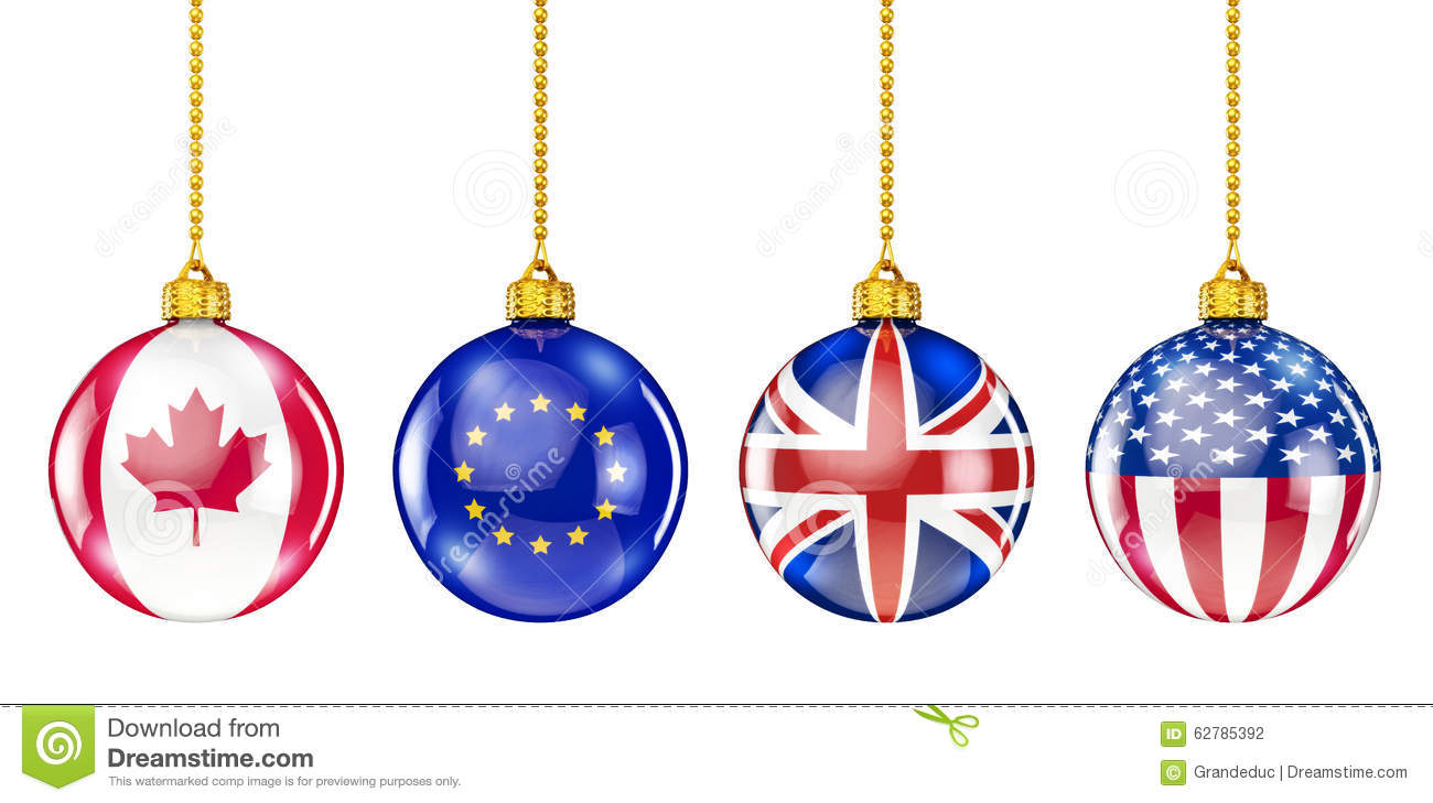 International Christmas Ornaments Stock Illustration - Illustration ...