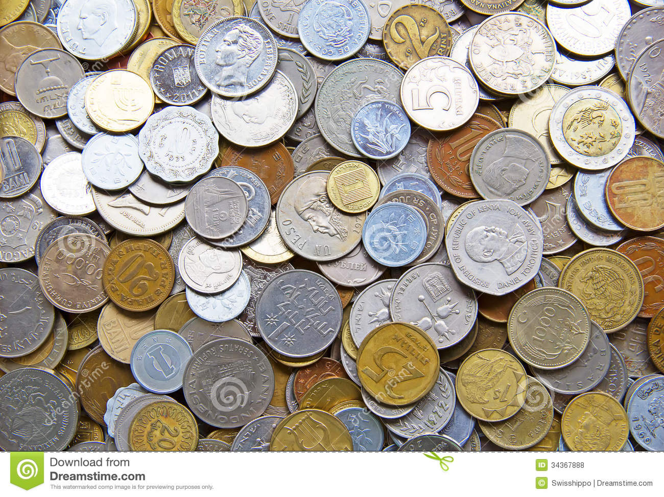 International Coins Royalty Free Stock Photos Image